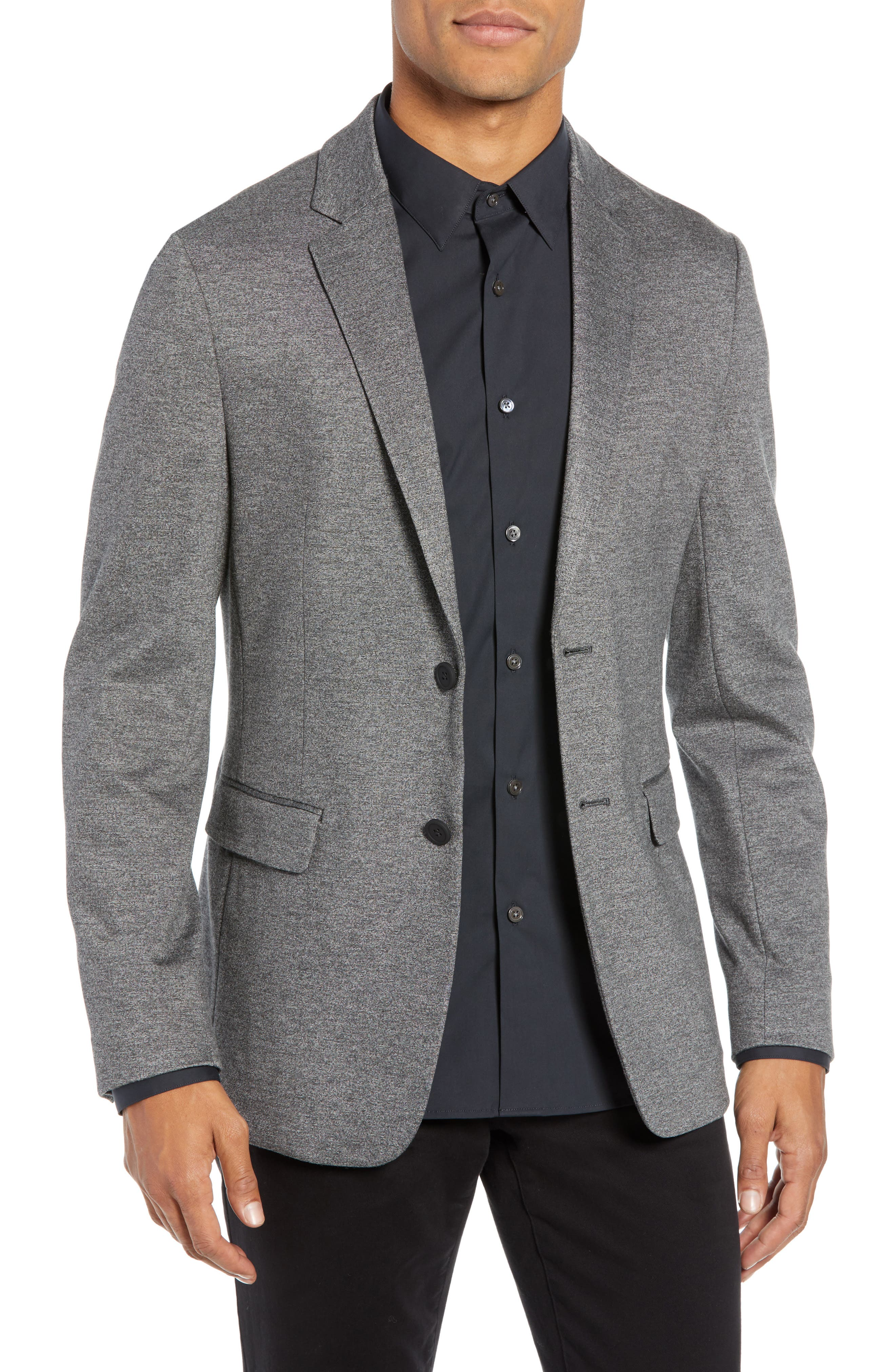 THEORY Clinton Marled Ponte Sport Coat, Main, color, 004