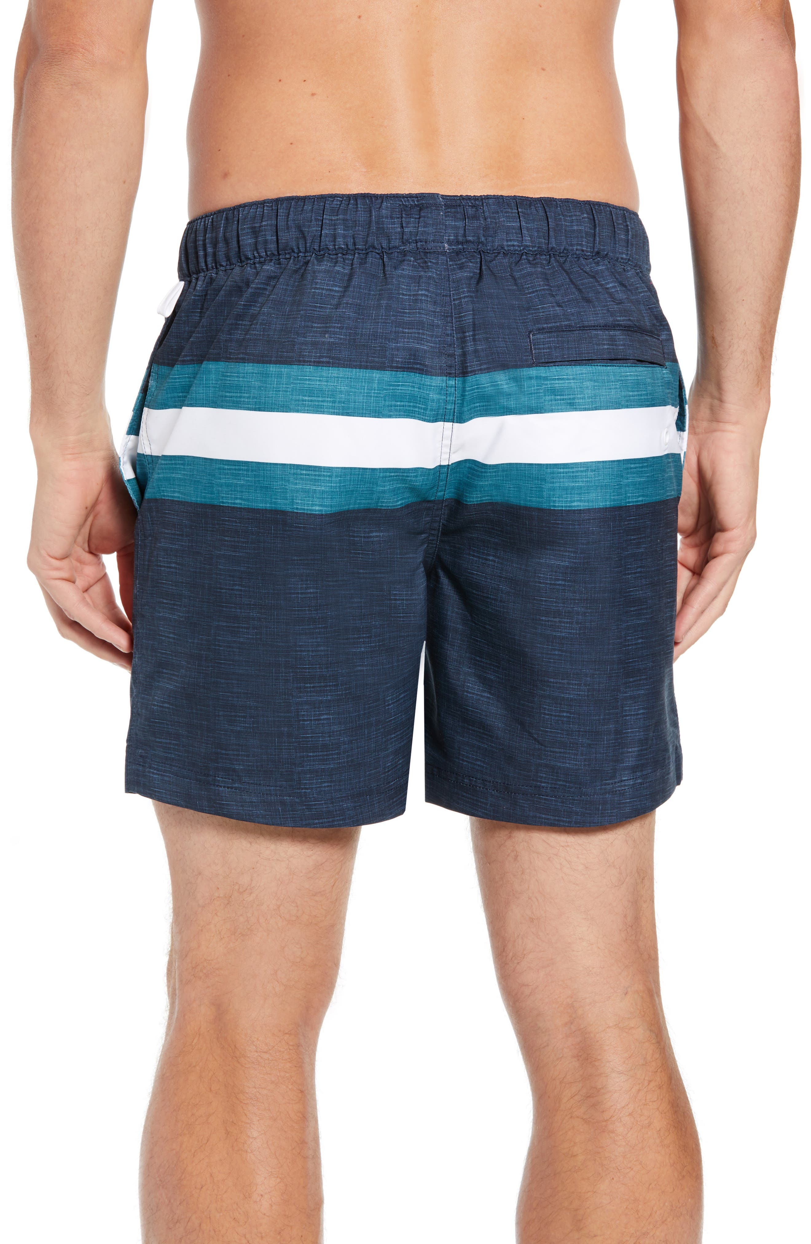 Colorblock Swim Trunks,                             Alternate thumbnail 2, color,                             DARK SAPPHIRE