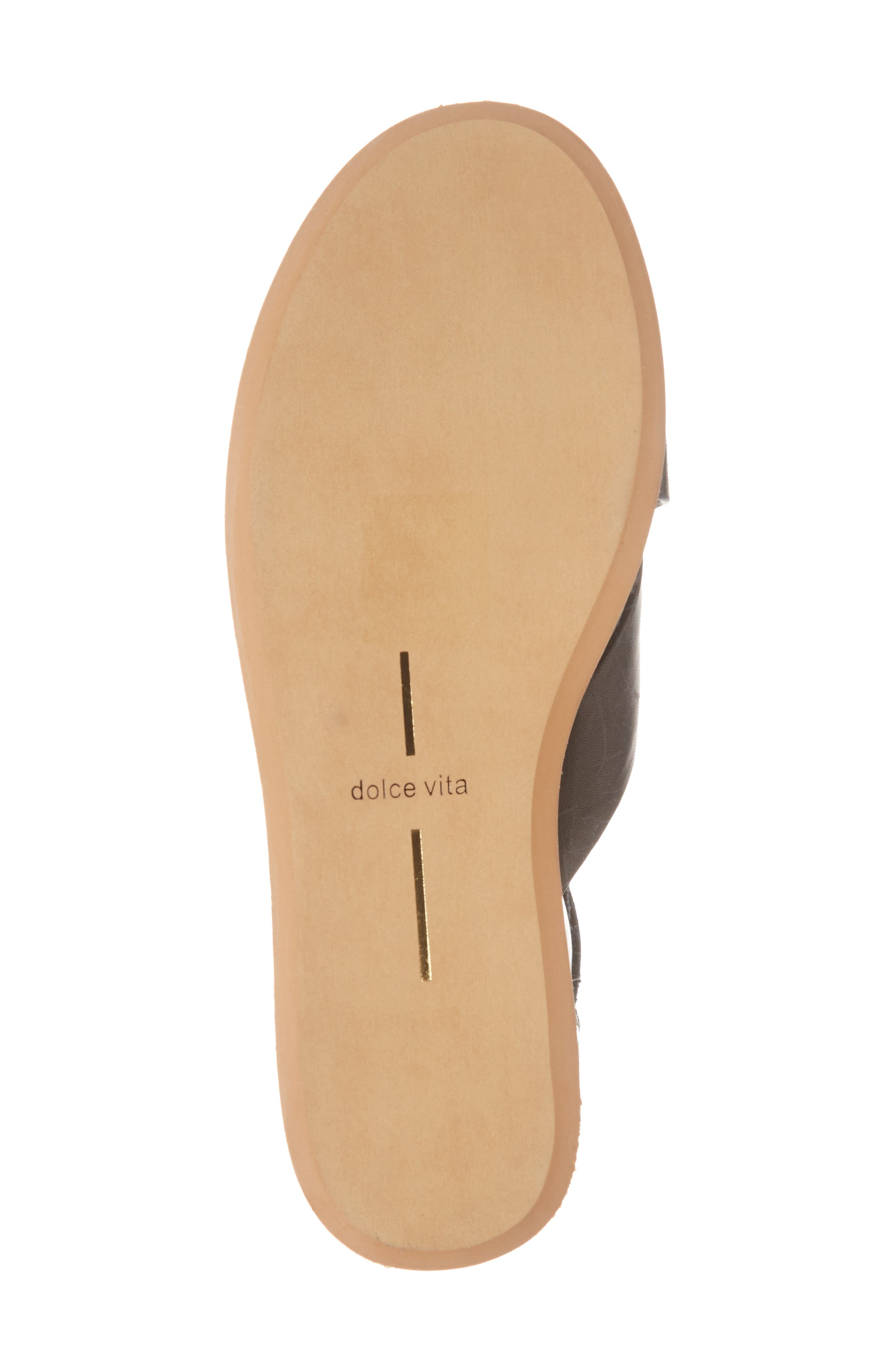 DOLCE VITA,                             Dalrae Platform Wedge Sandal,                             Alternate thumbnail 6, color,                             001