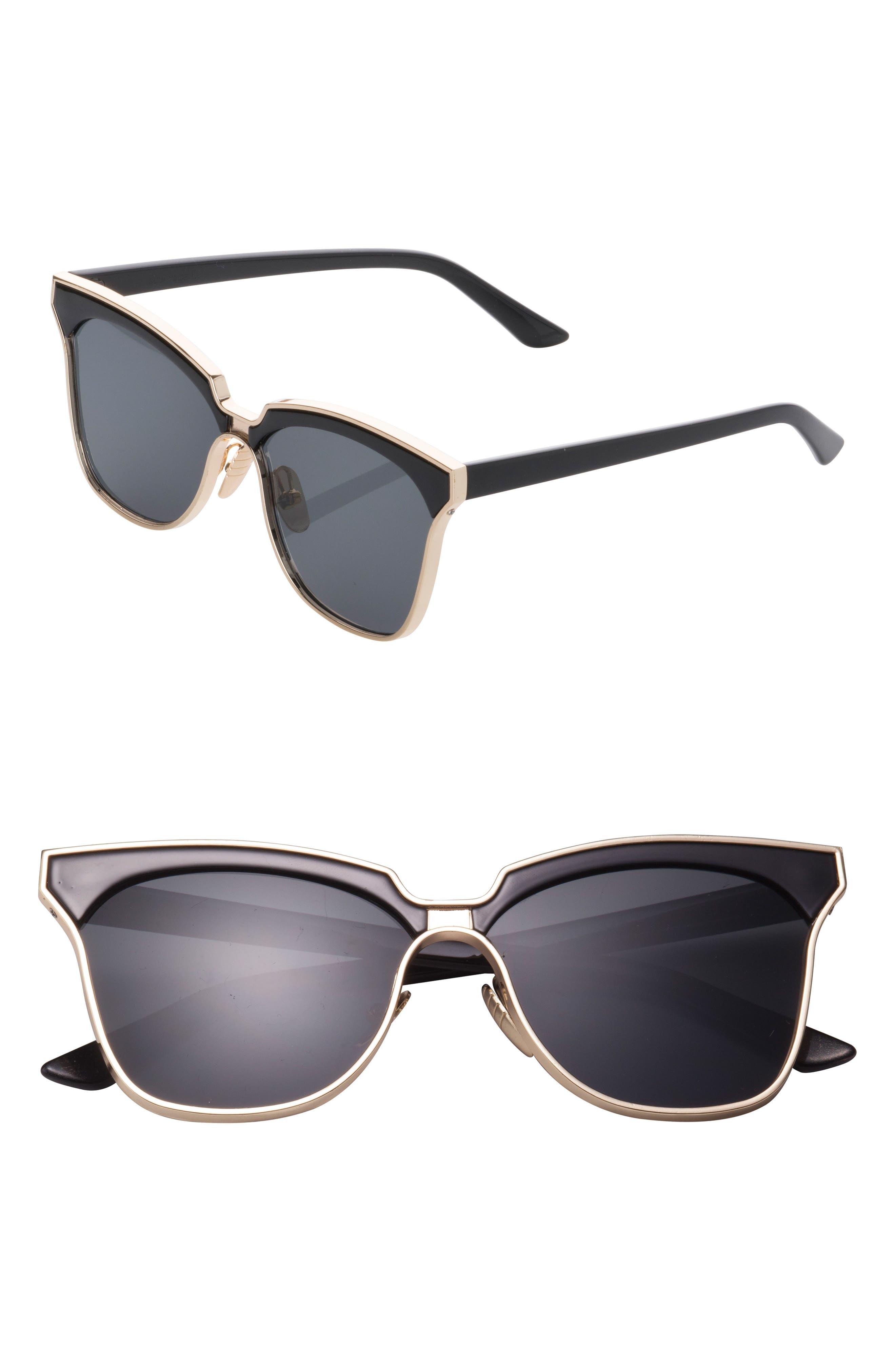 61mm Angular Sunglasses,                             Main thumbnail 1, color,                             001