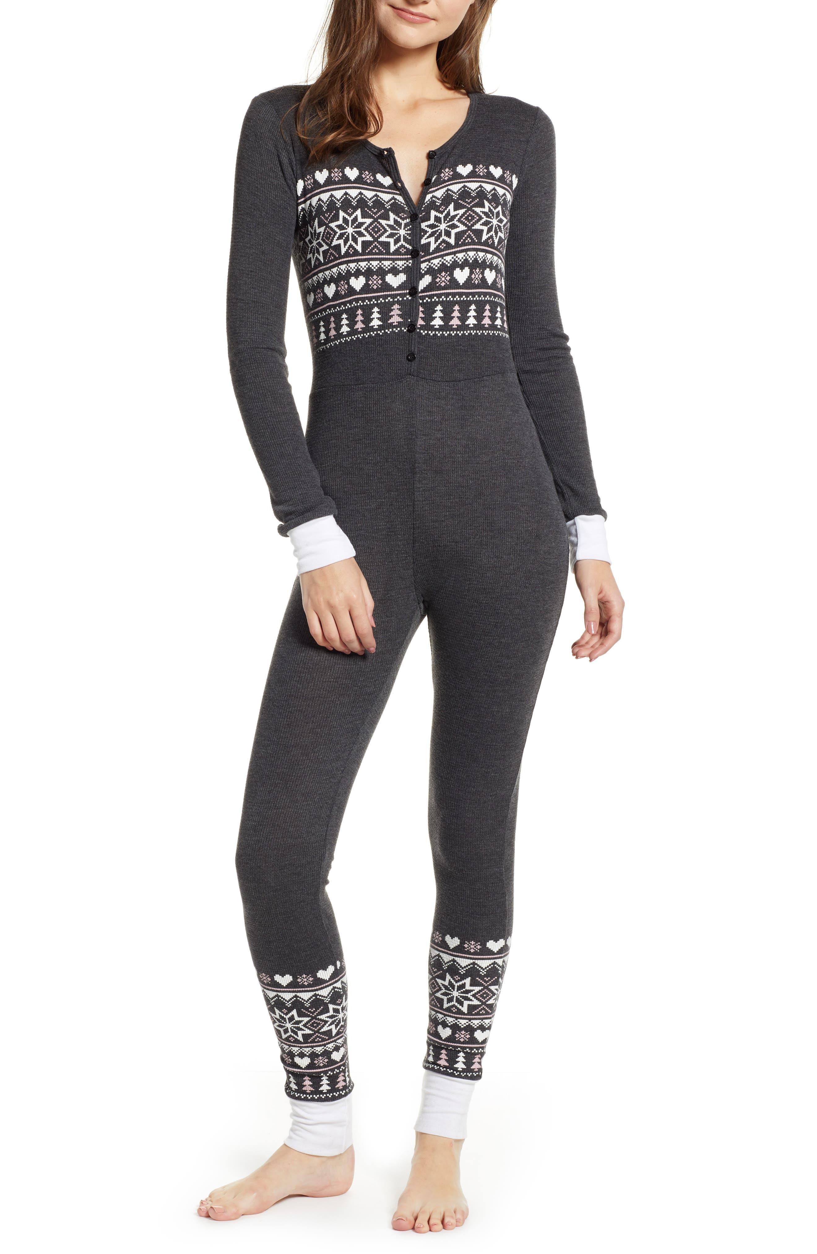 Fair Isle Love Jumpsuit,                             Main thumbnail 1, color,                             CLEAN BLACK