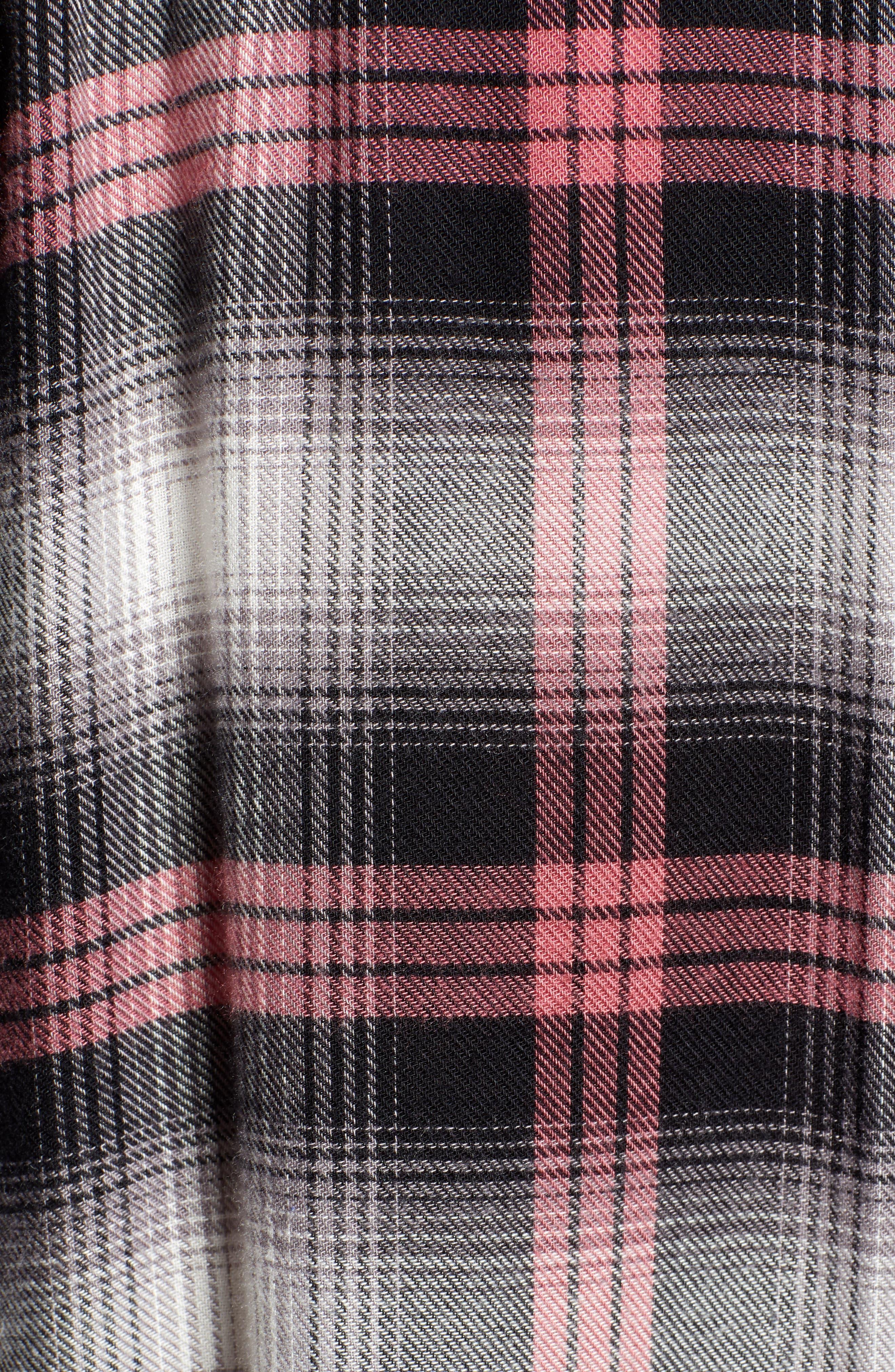 Hunter Plaid Shirt,                             Alternate thumbnail 7, color,                             BLACK TAFFY