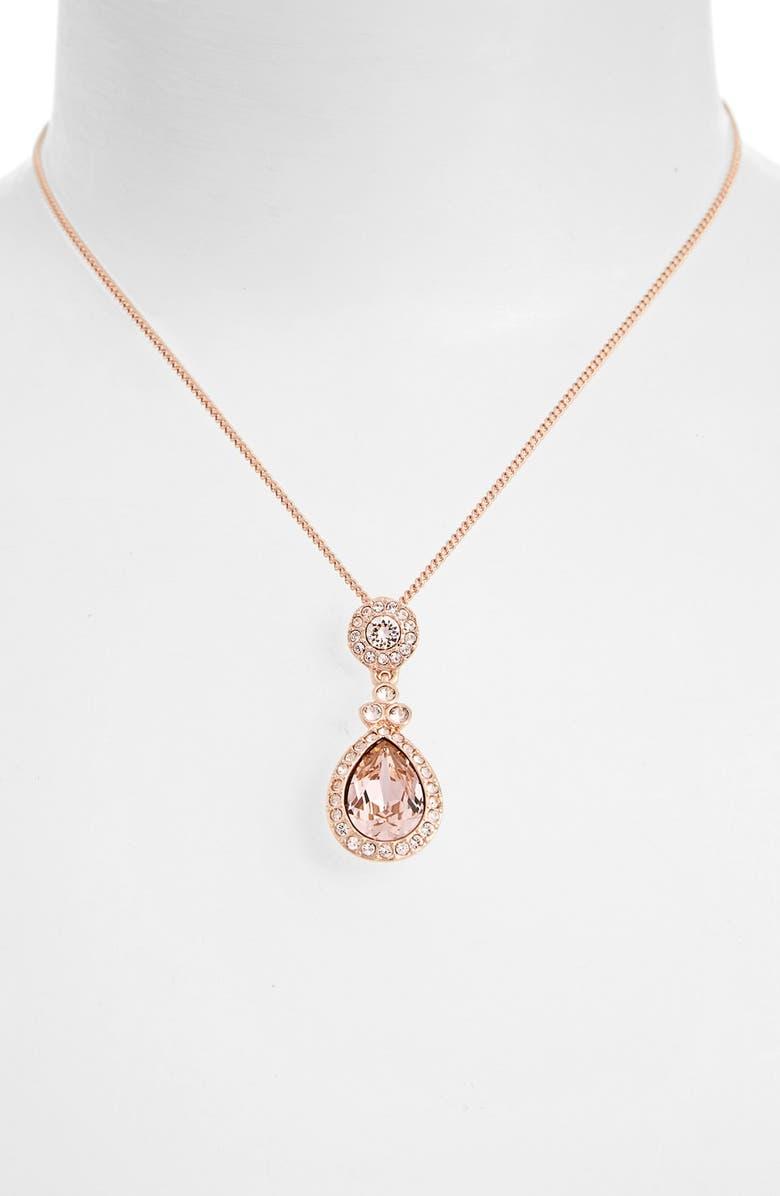 Givenchy  Wingate  Swarovski Crystal Pendant Necklace  5b91114656