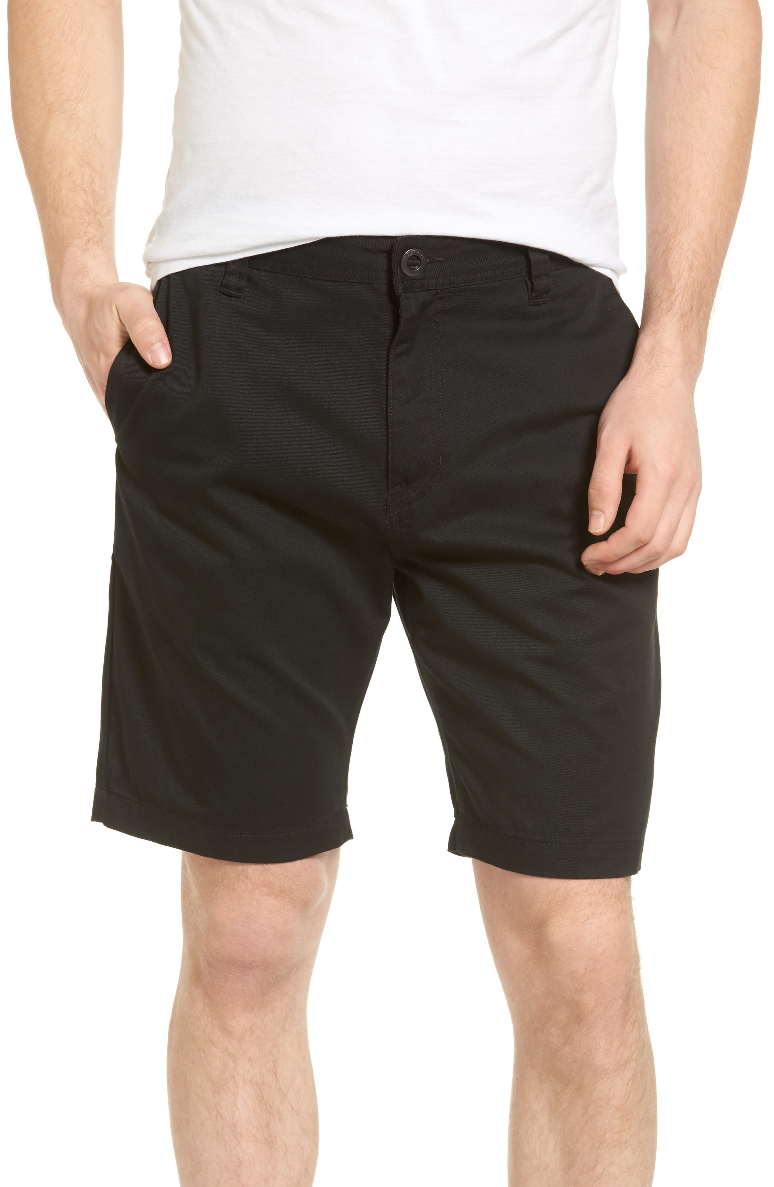 Modern Chino Shorts,                         Main,                         color, BLACK