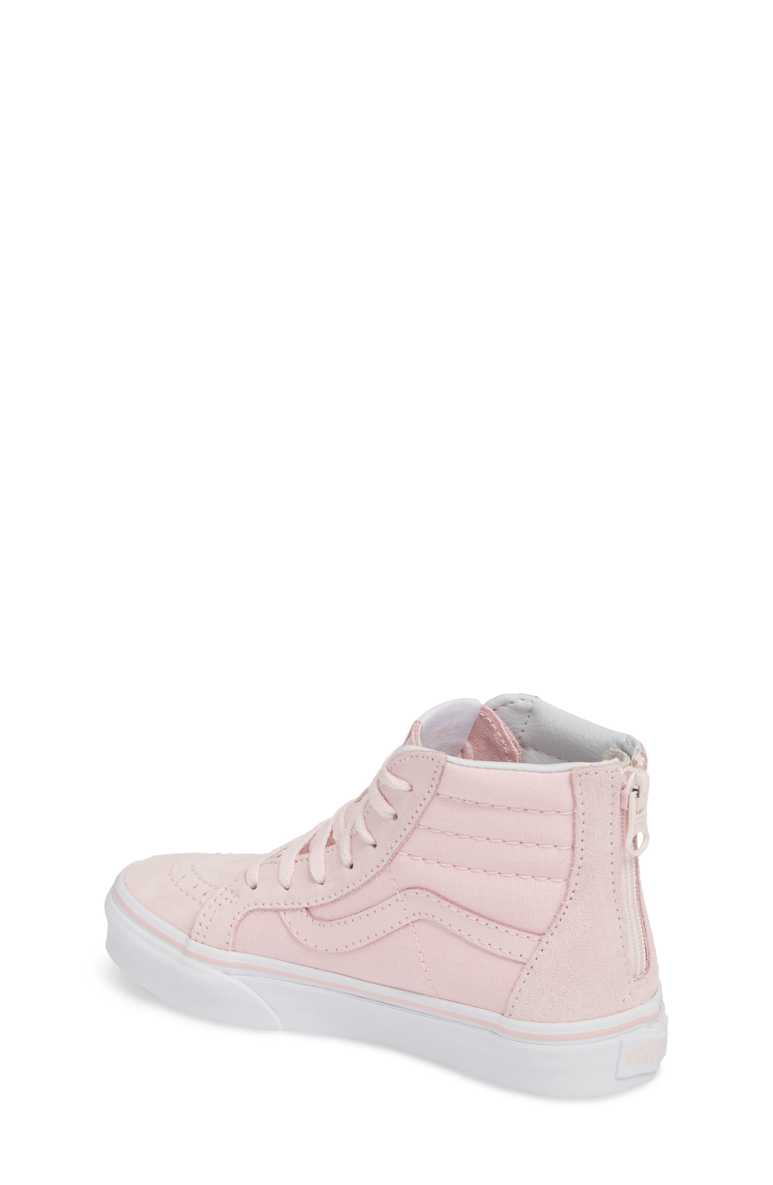 Sk8-Hi Zip Sneaker,                             Alternate thumbnail 2, color,                             CHALK PINK/ TRUE WHITE