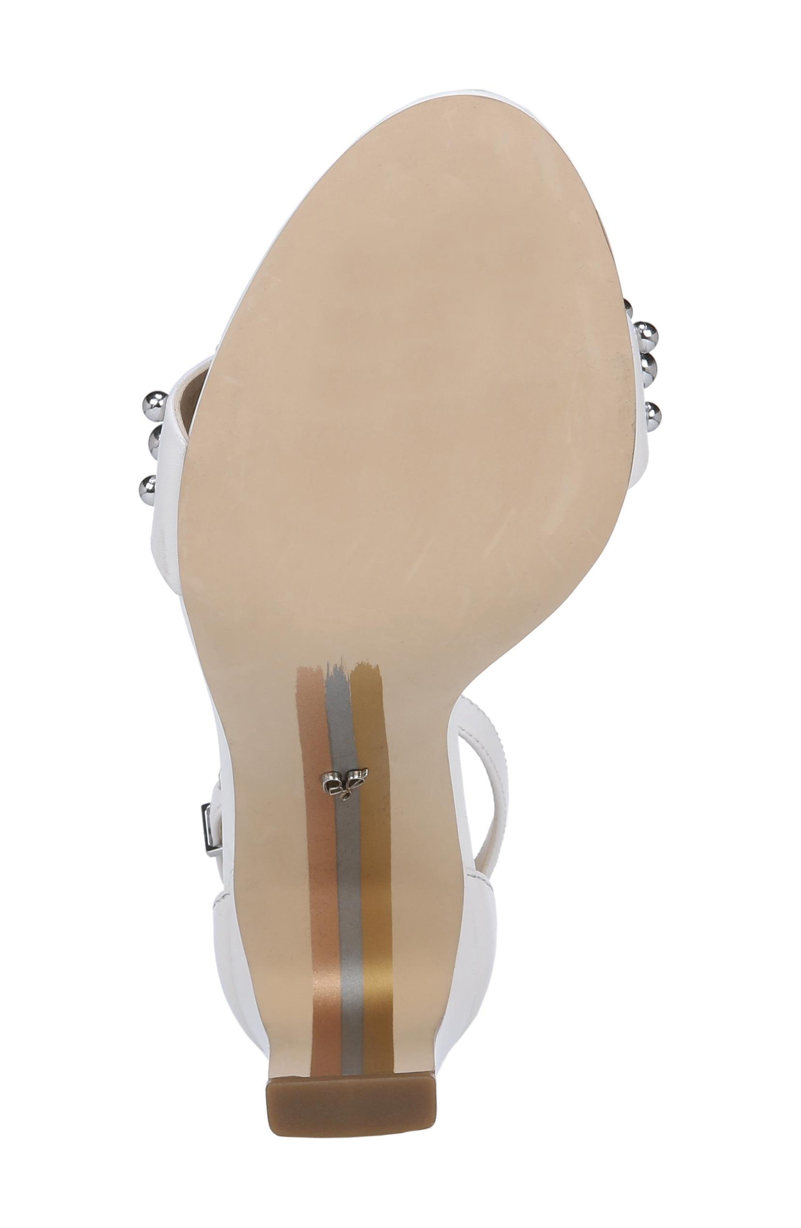 Yoshi Studded Ankle Strap Sandal,                             Alternate thumbnail 6, color,                             BRIGHT WHITE LEATHER
