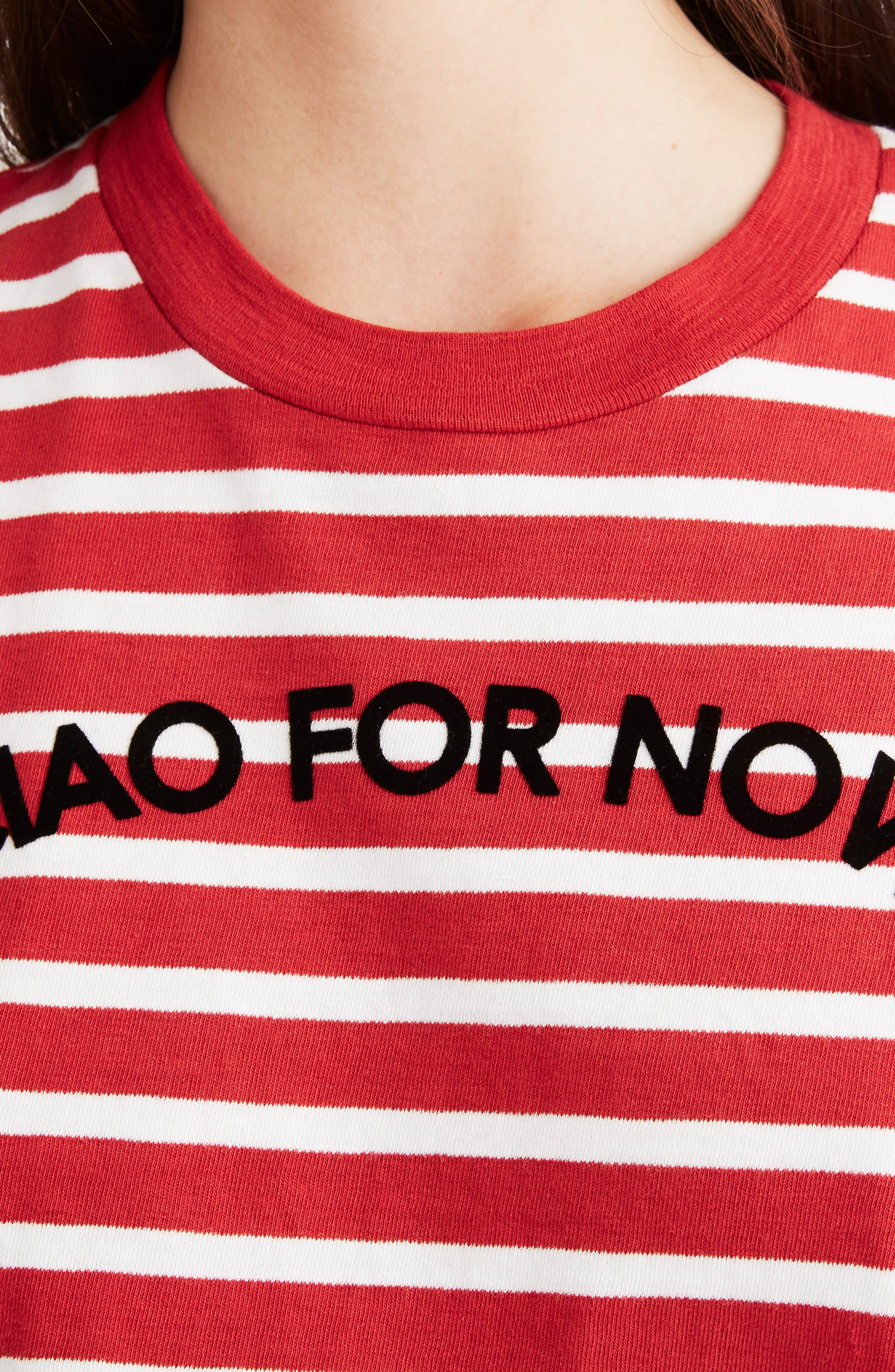 MADEWELL,                             Stripe Ciao for Now Tee,                             Alternate thumbnail 4, color,                             600