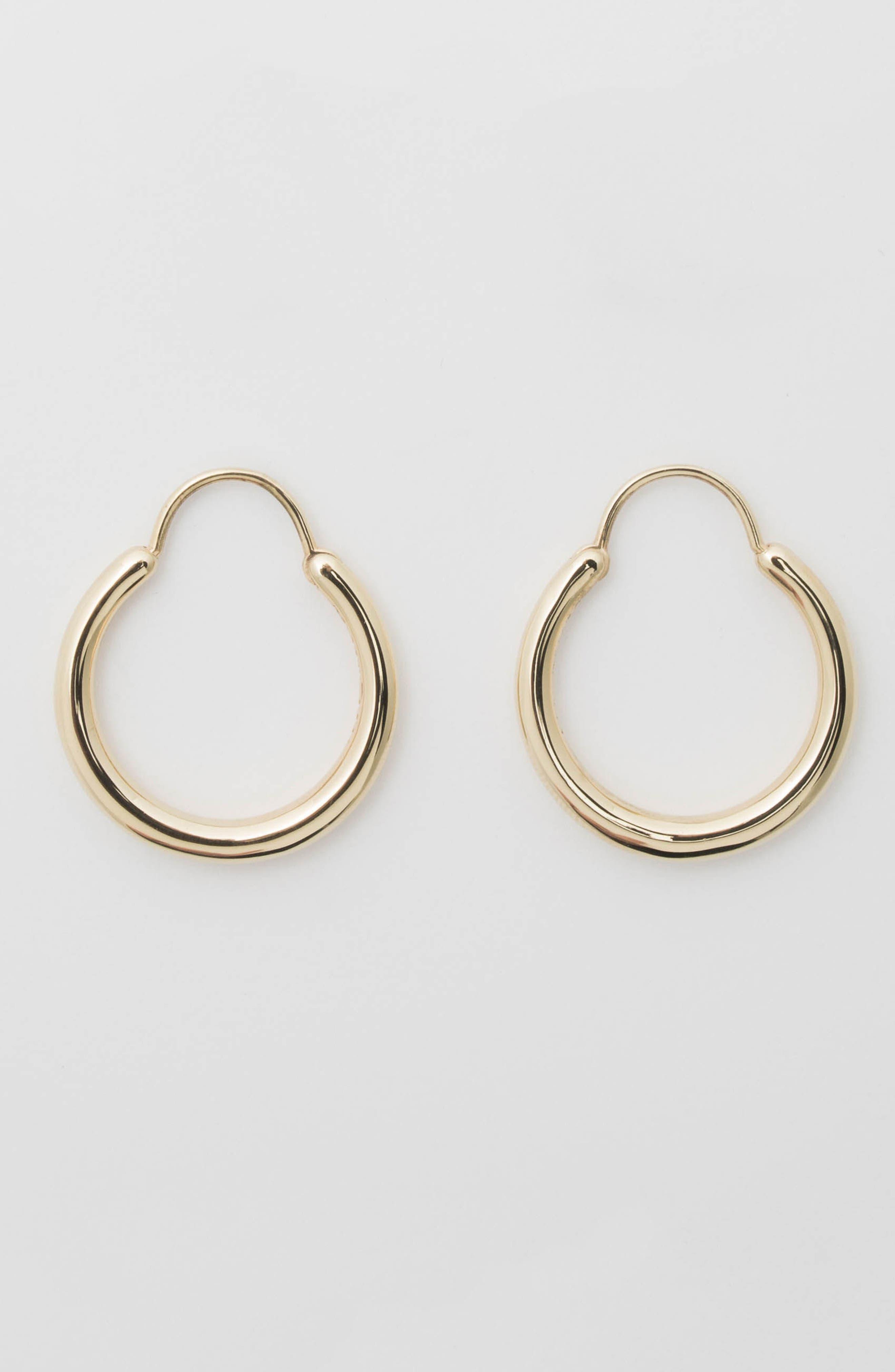 Small Snake Polished Vermeil Earrings,                             Alternate thumbnail 5, color,