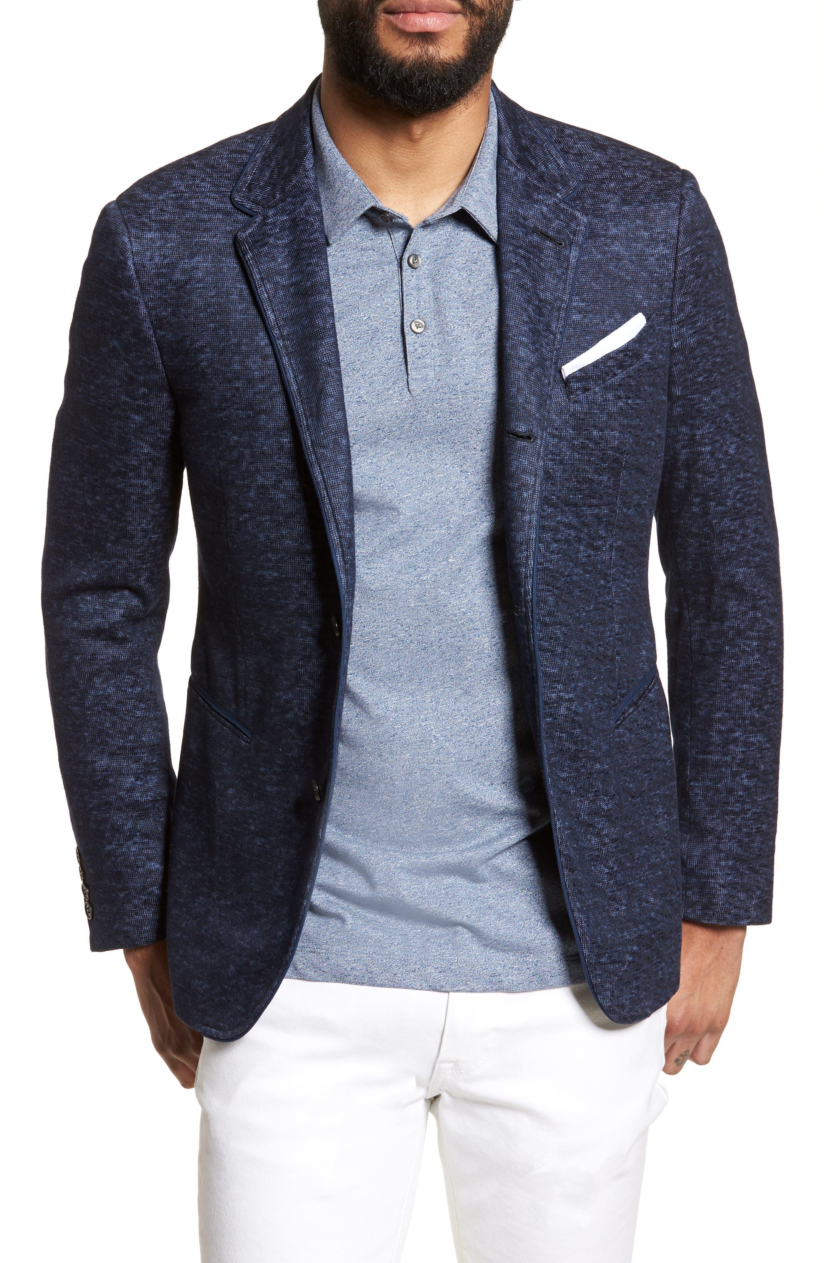 Regular Fit Cotton & Linen Blazer,                             Main thumbnail 1, color,                             406