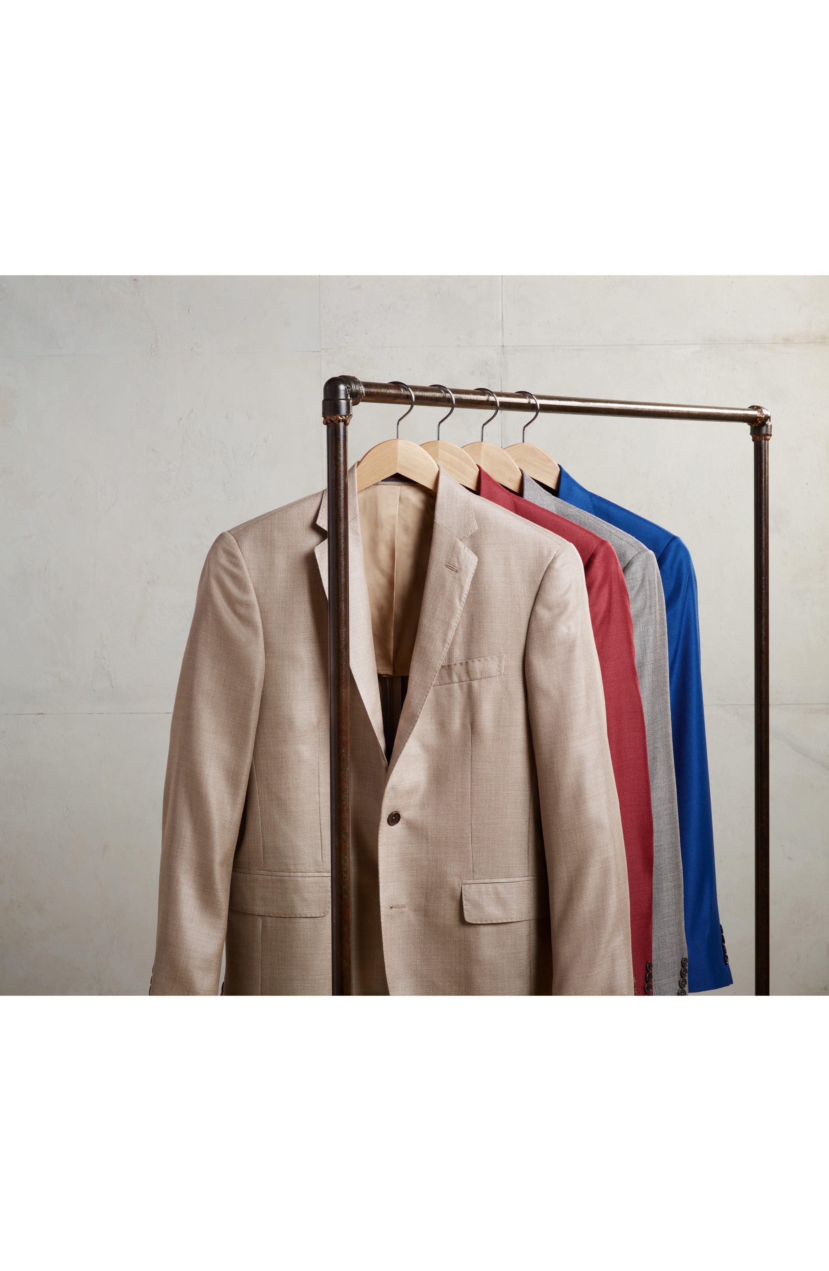 Trim Fit Cashmere & Silk Blazer,                             Alternate thumbnail 7, color,                             030
