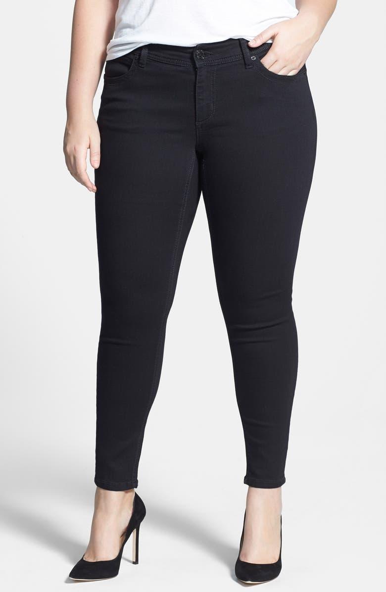 e953de71585 Seven7  Double Seven  Embellished Super Stretch Skinny Jeans (Black ...
