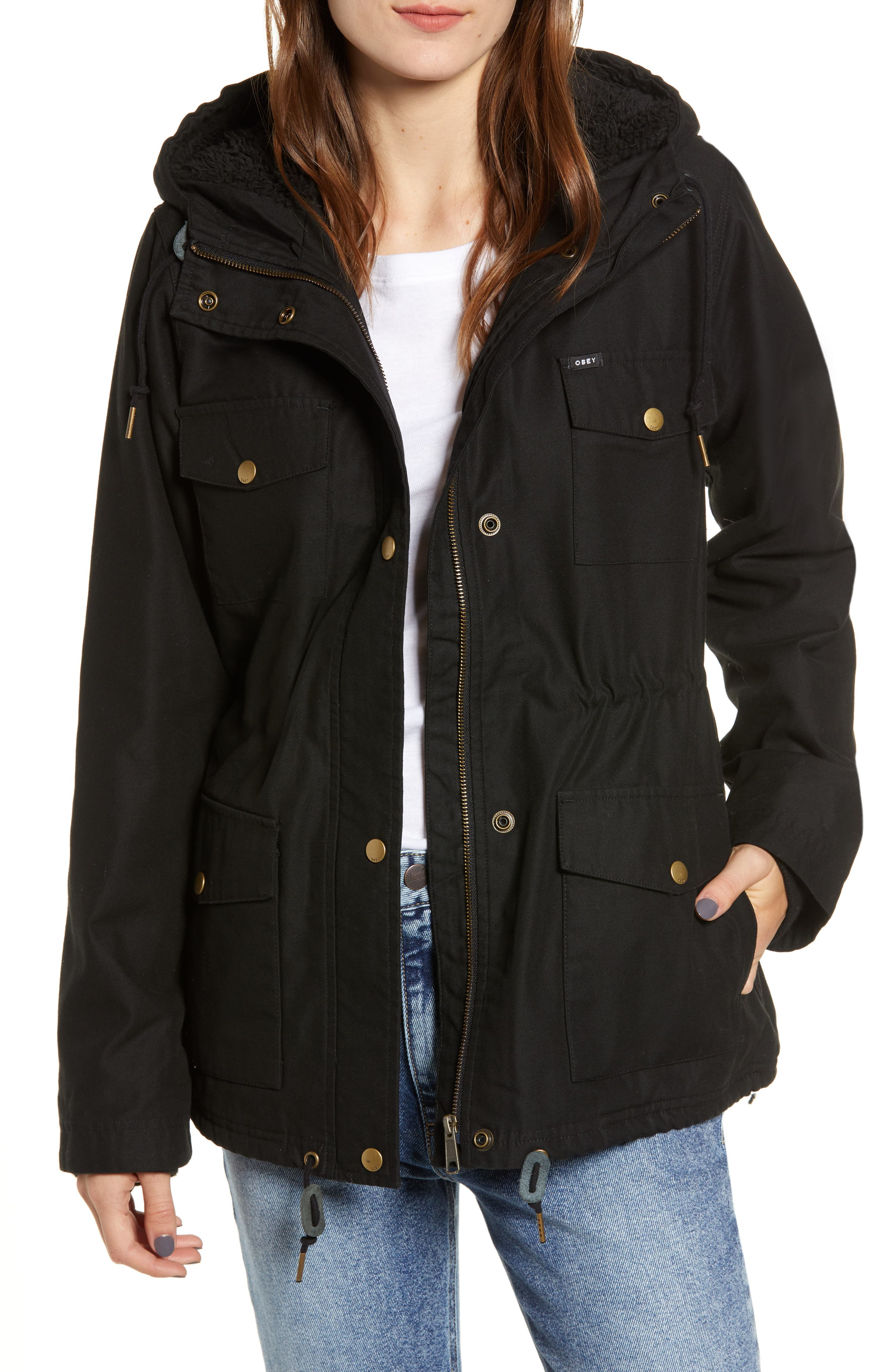 Pistol Water-Resistant Jacket,                             Main thumbnail 1, color,                             001
