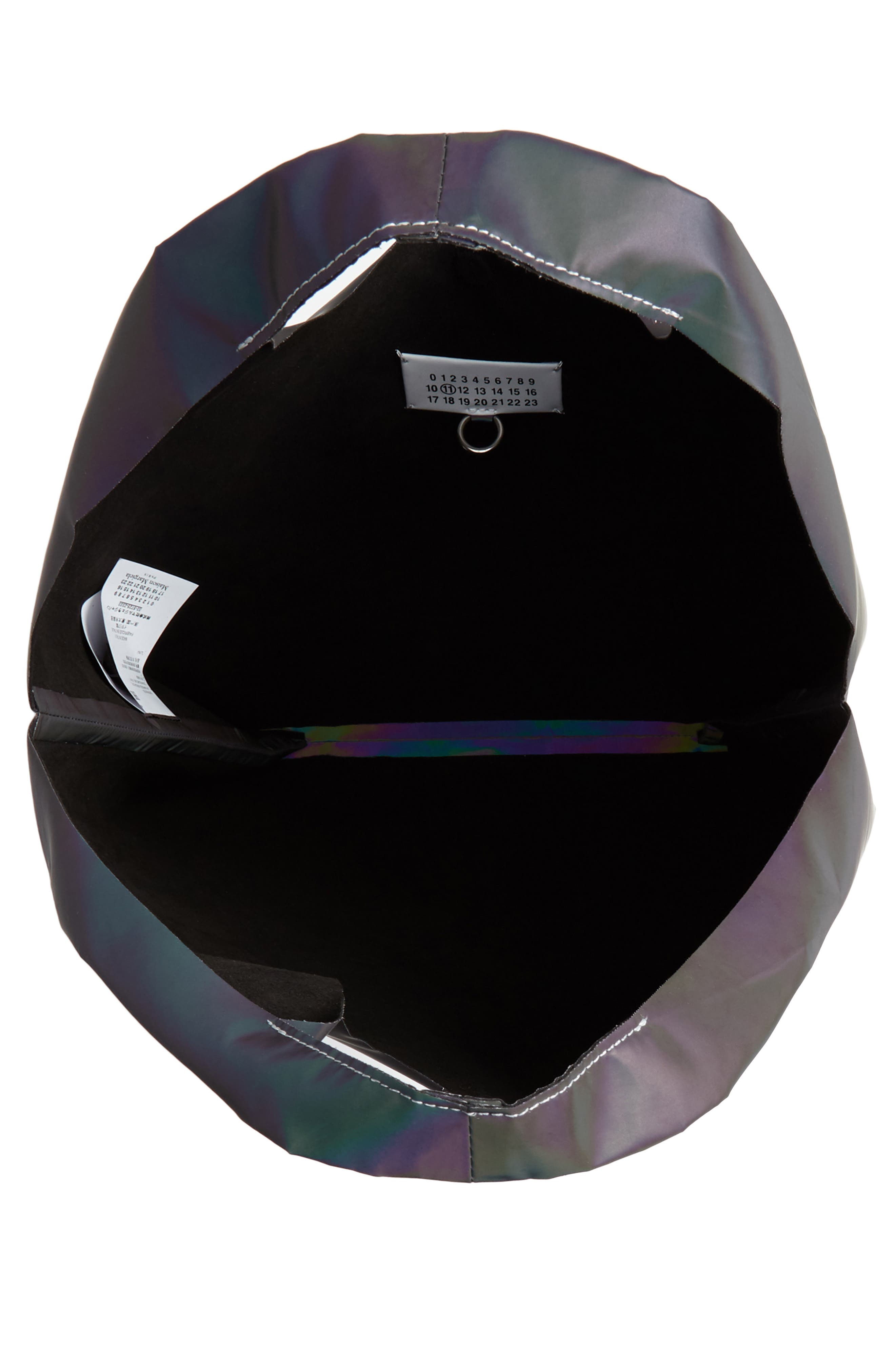 Reflective Logo Tote,                             Alternate thumbnail 4, color,                             BLACK