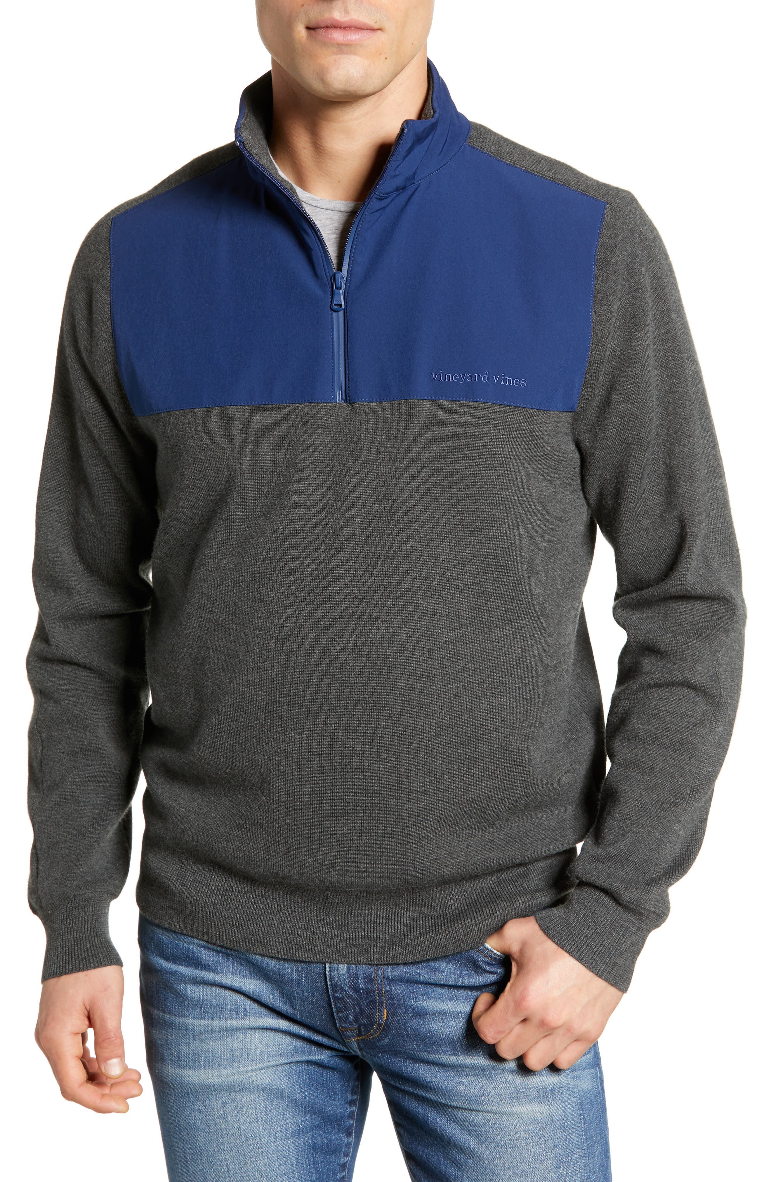 Regular Fit Quarter Zip Performance Pullover,                             Main thumbnail 1, color,                             025