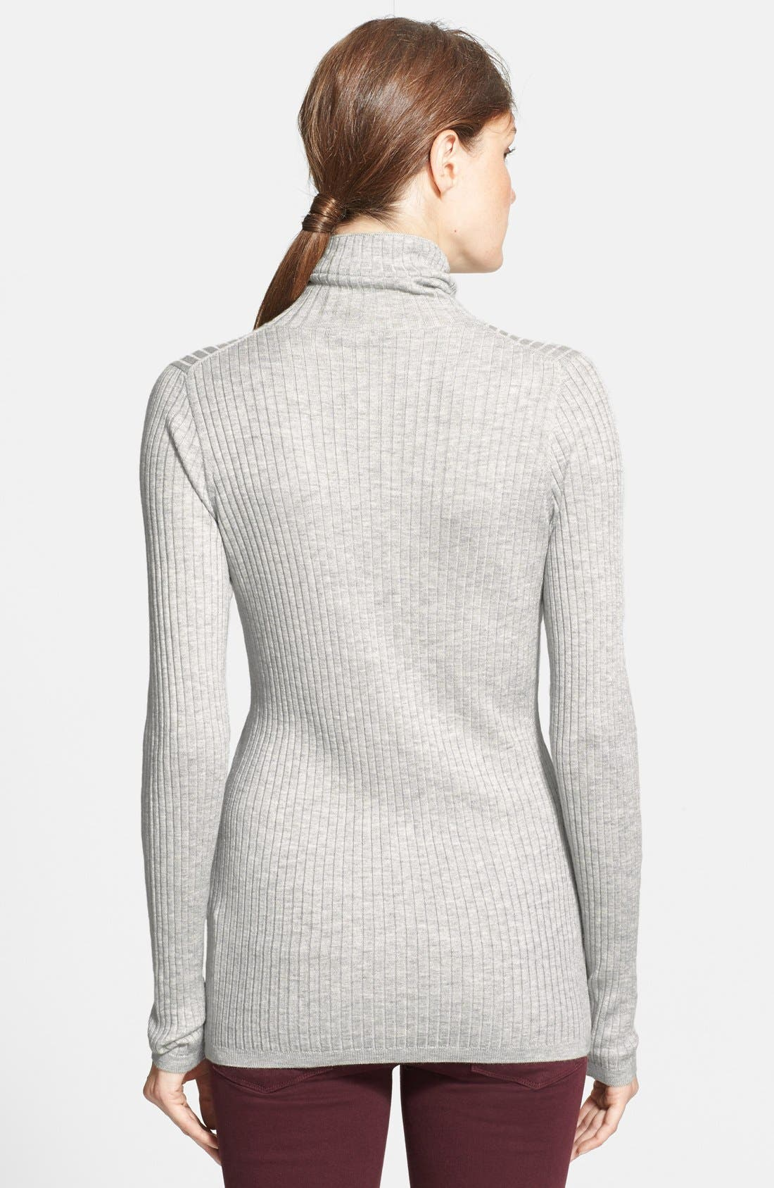 Ribbed Turtleneck Sweater,                             Alternate thumbnail 5, color,                             045