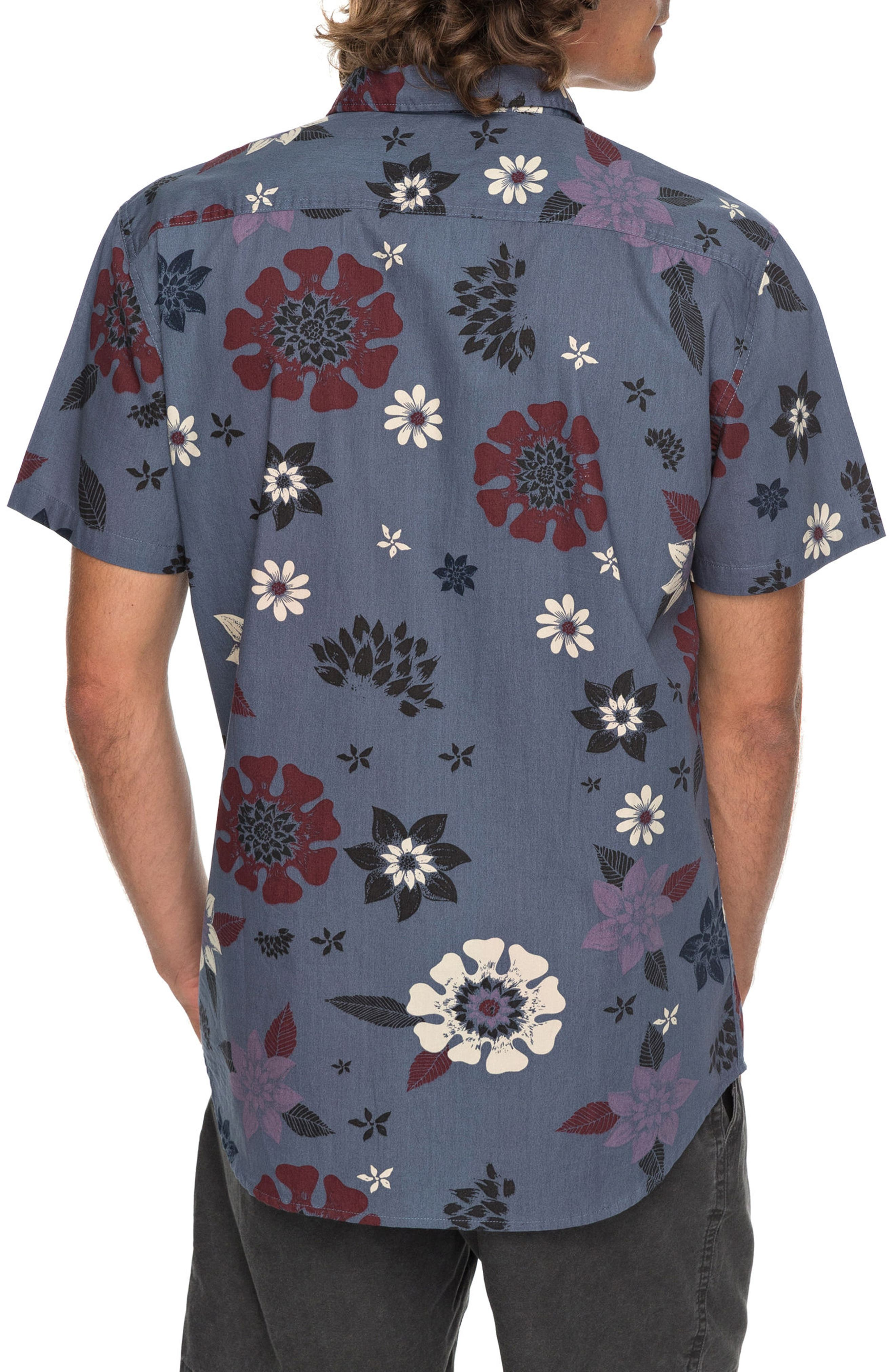 Sunset Floral Woven Shirt,                             Alternate thumbnail 2, color,                             020