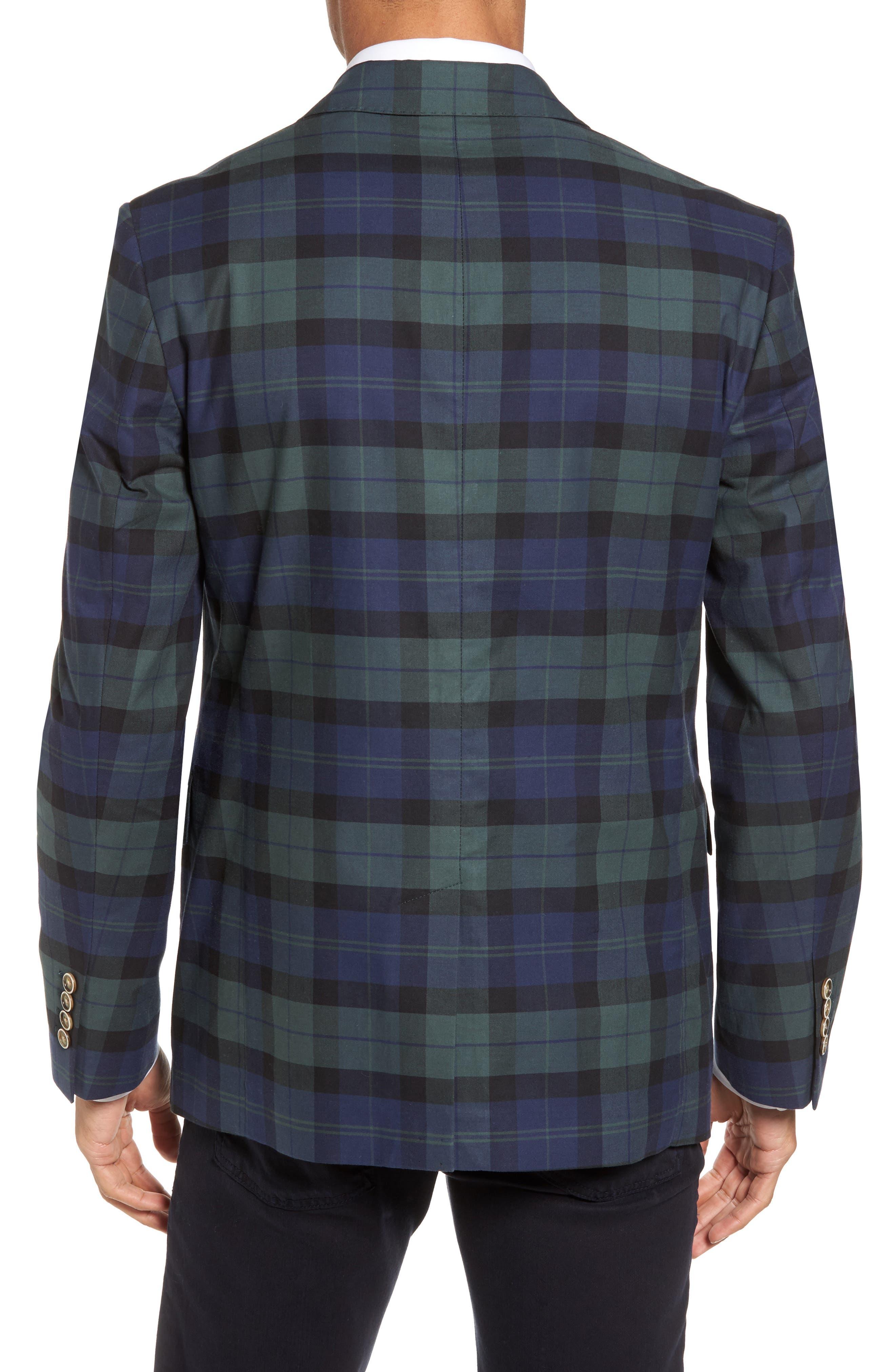 Classic Fit Blackwatch Plaid Sport Coat,                             Alternate thumbnail 2, color,                             404