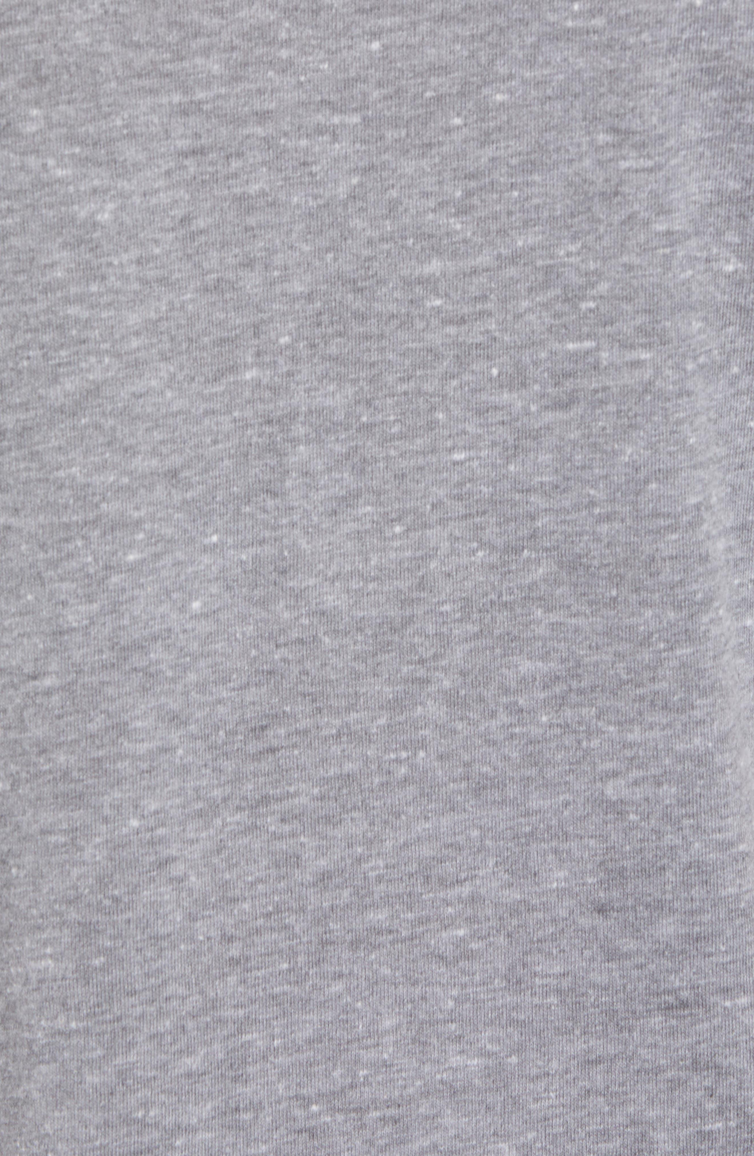 Peace Sign Crewneck T-Shirt,                             Alternate thumbnail 5, color,                             073
