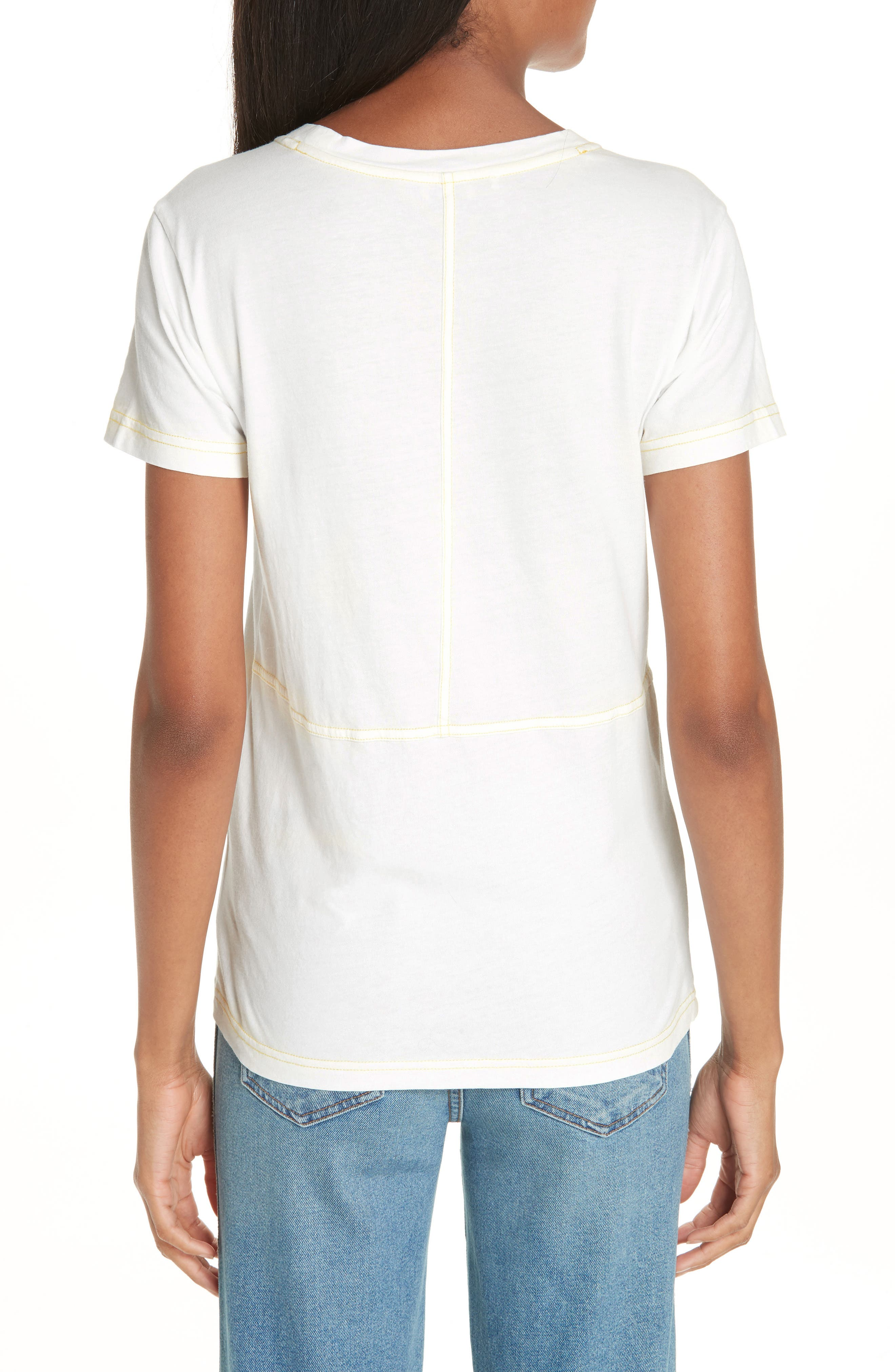Logo Embroidered Tee,                             Alternate thumbnail 2, color,                             100