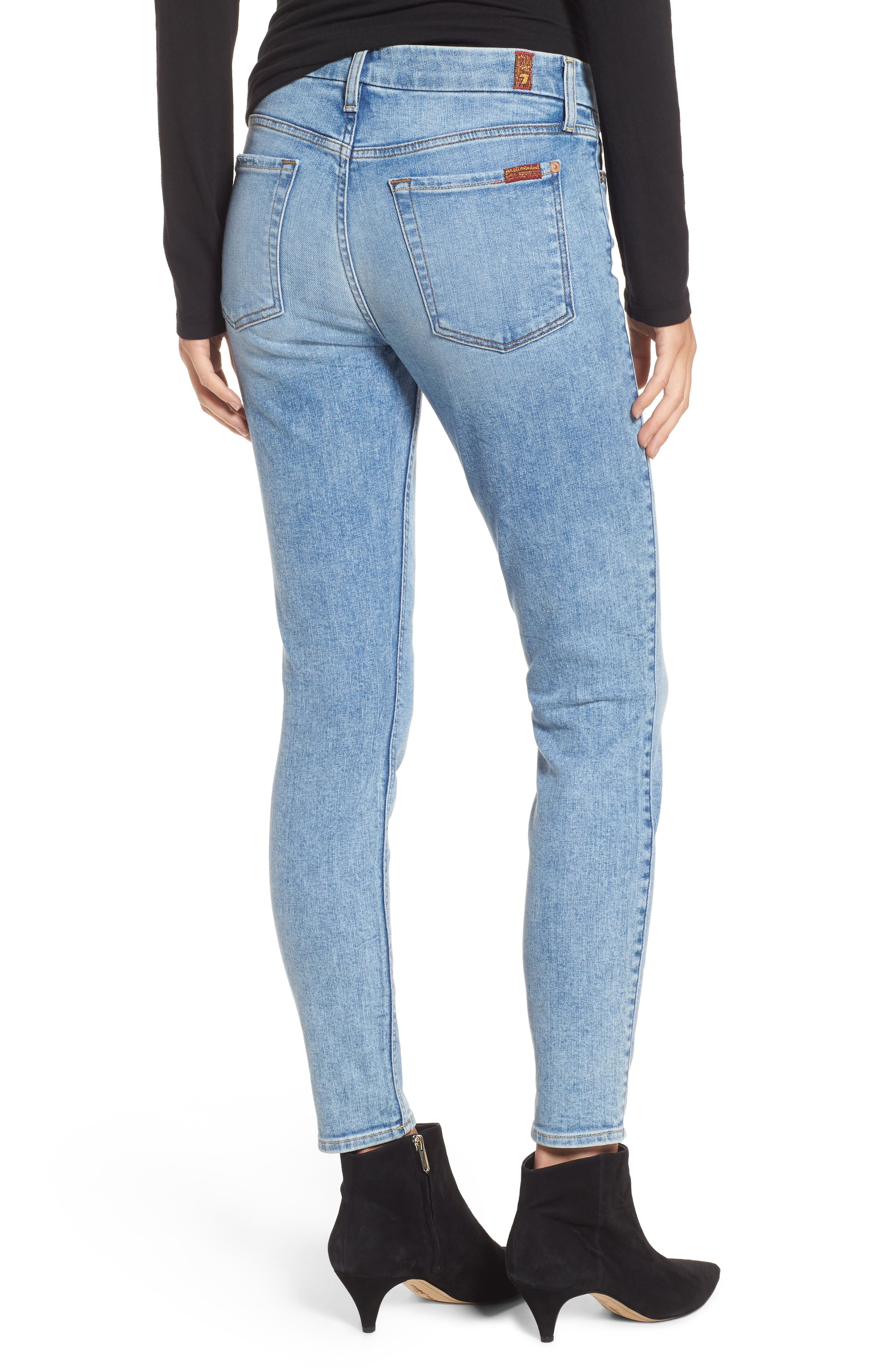 Embellished & Ripped Ankle Skinny Jeans,                             Alternate thumbnail 2, color,                             405