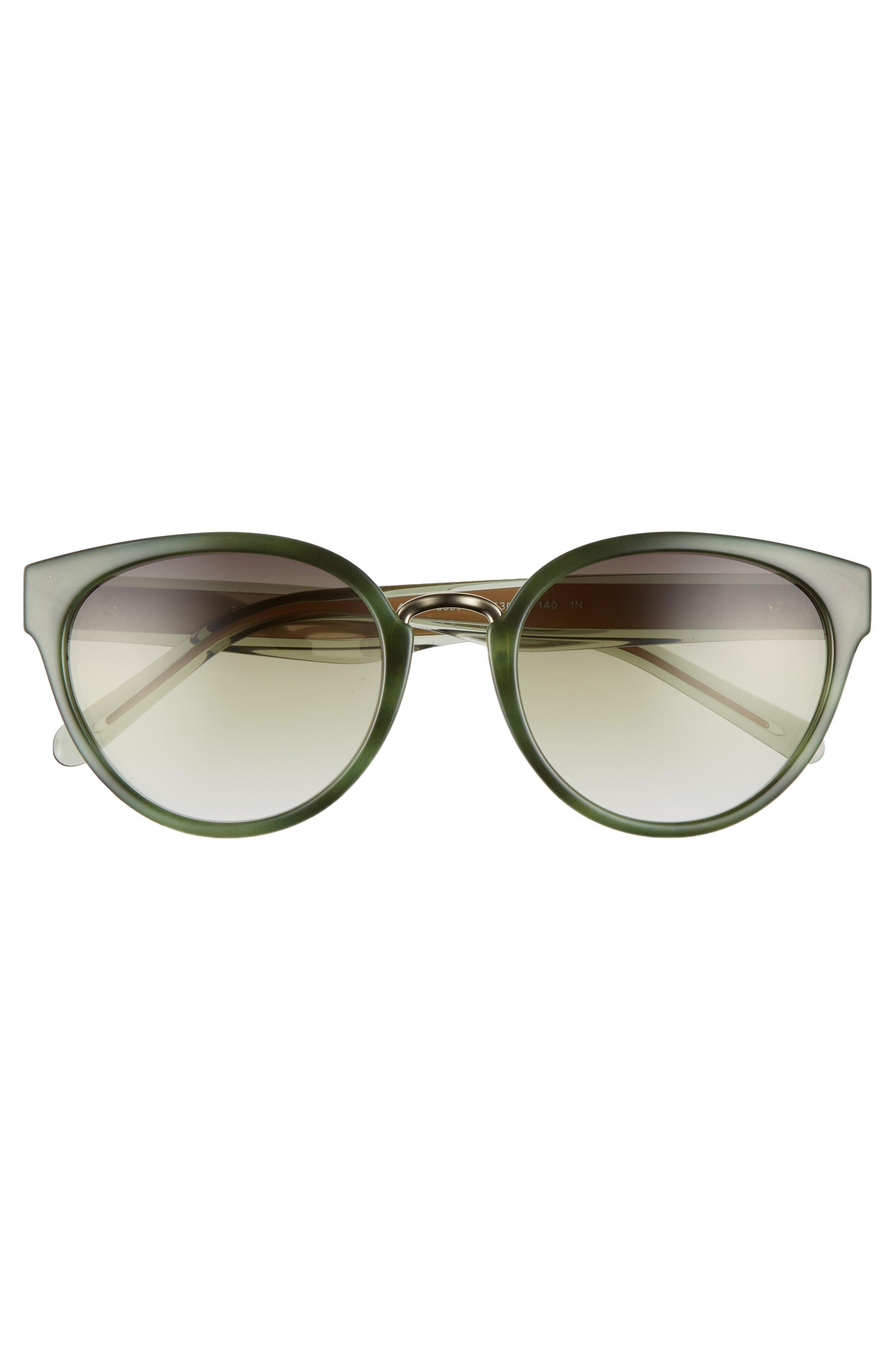 53mm Gradient Cat Eye Sunglasses,                             Alternate thumbnail 12, color,