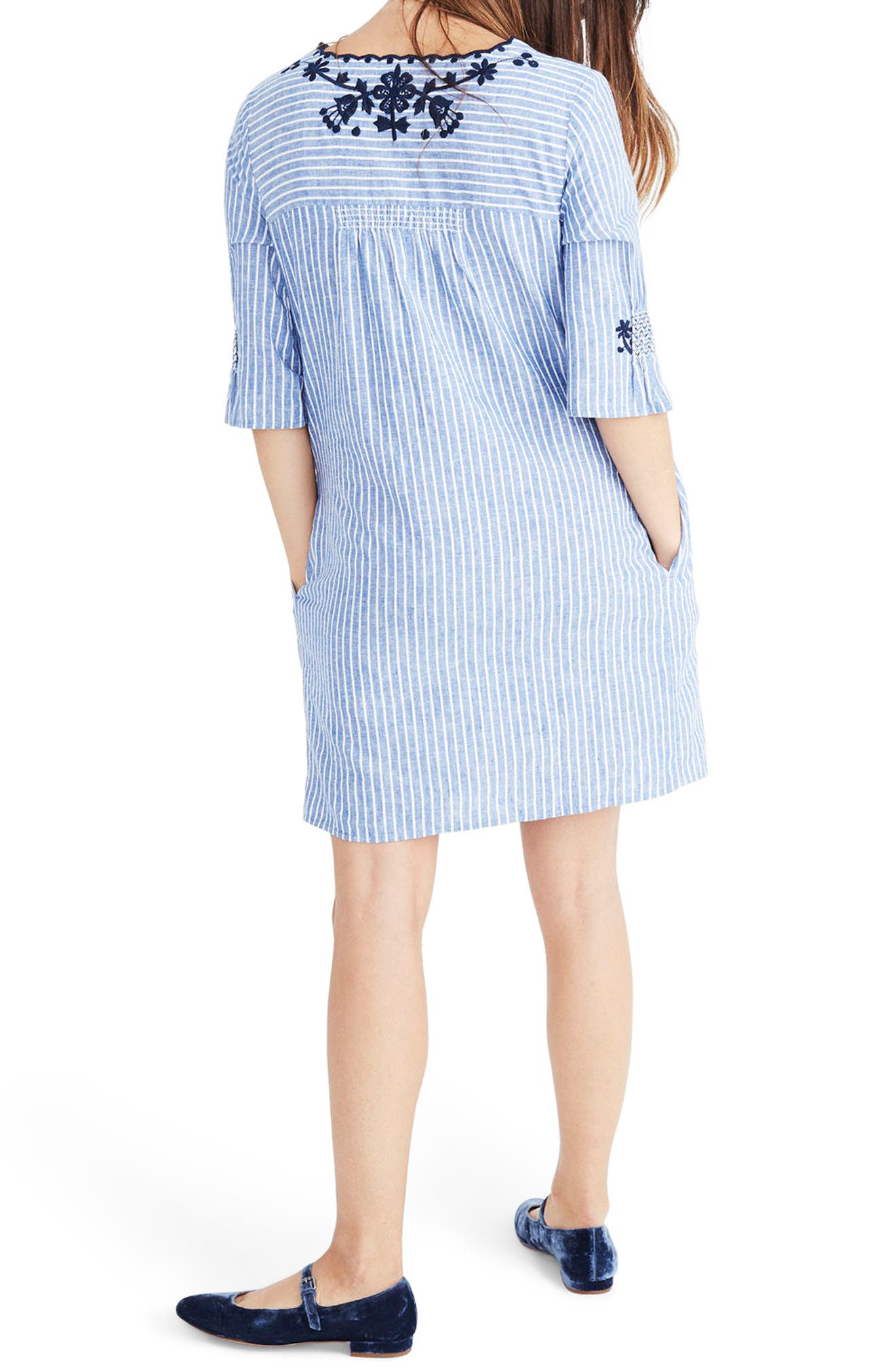 Breeze Embroidered Shift Dress,                             Alternate thumbnail 2, color,                             400