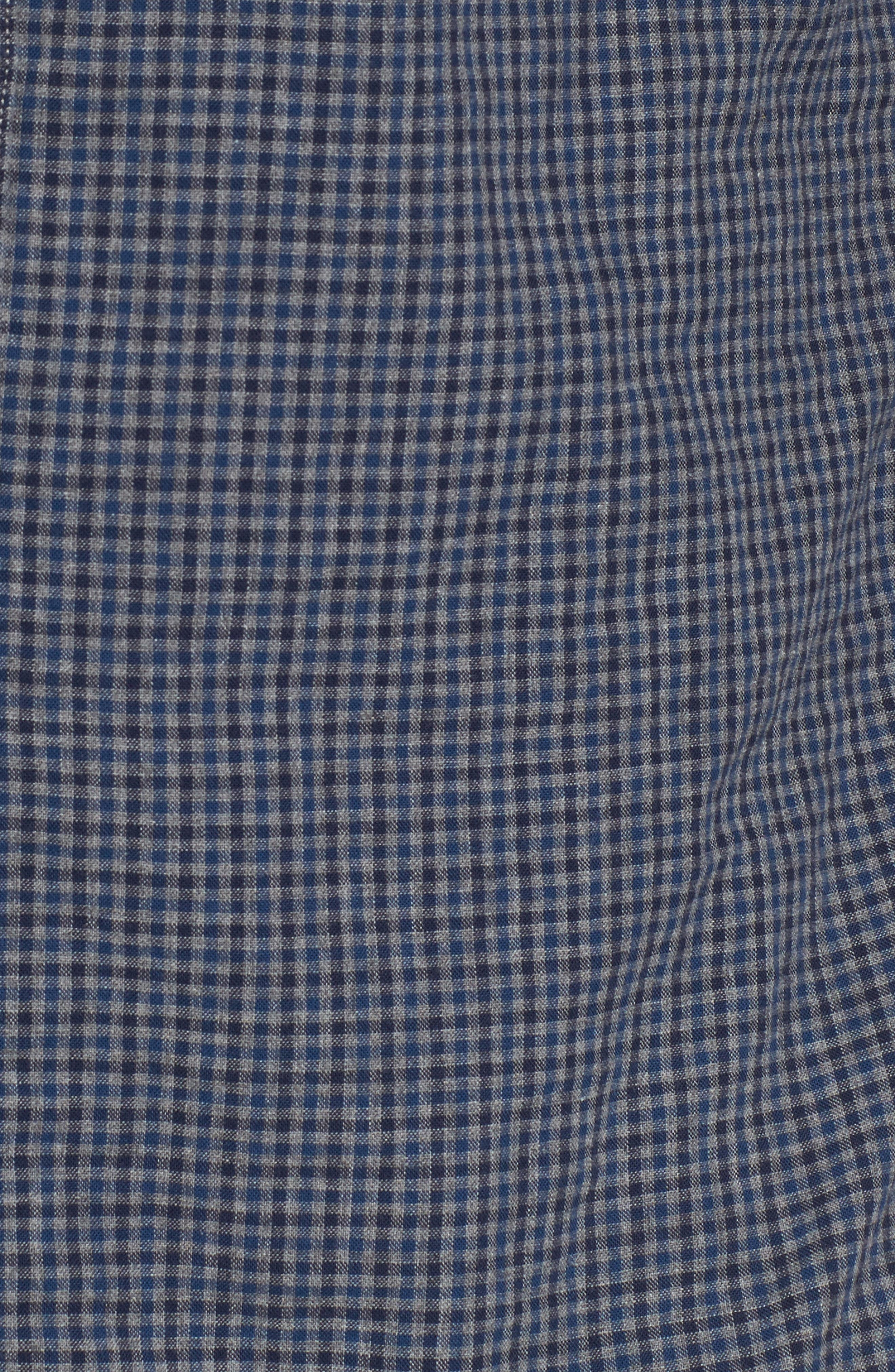 Slim Fit Micro Check Sport Shirt,                             Alternate thumbnail 5, color,
