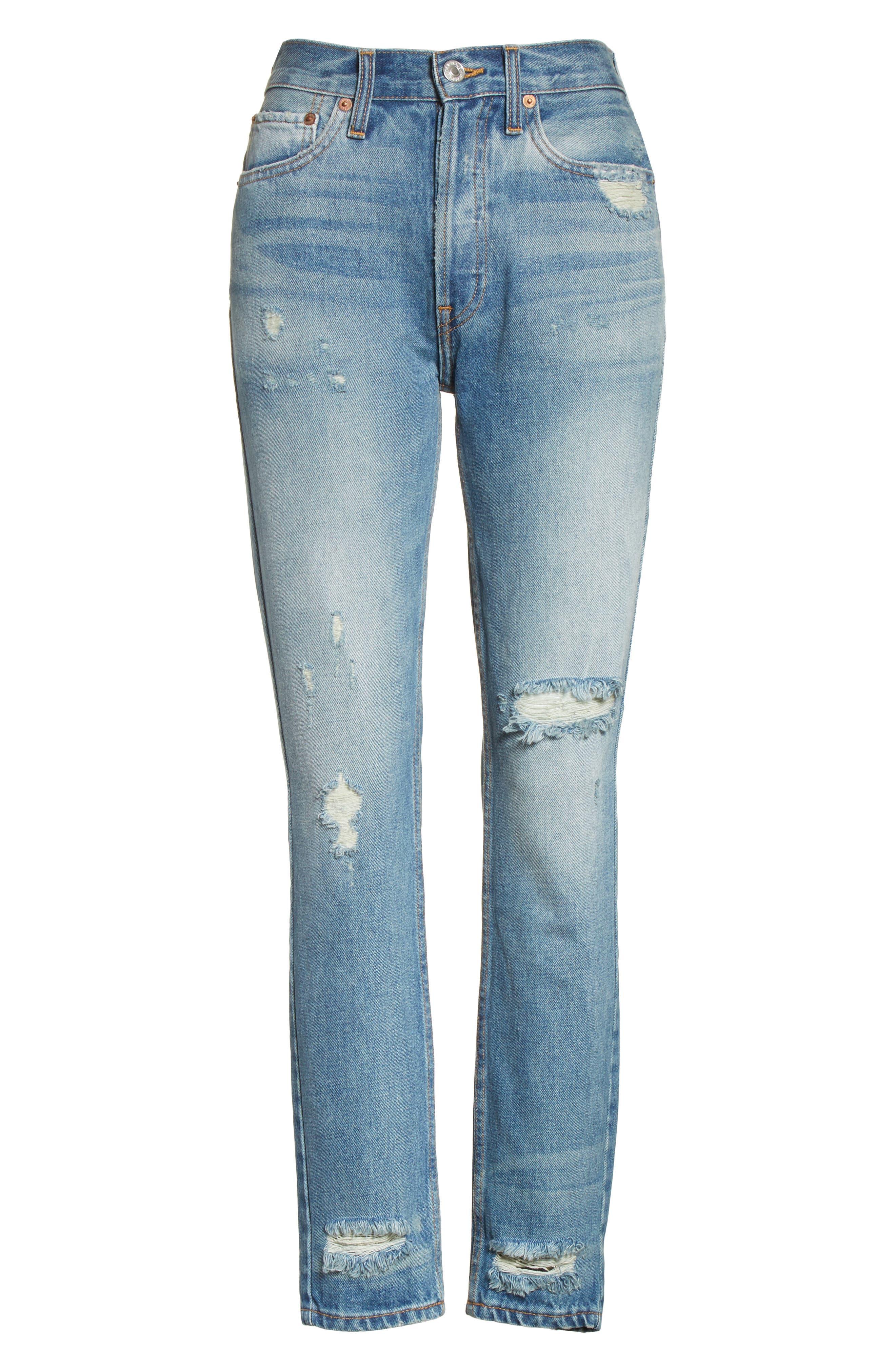 Originals High Waist Jeans,                             Alternate thumbnail 6, color,                             401