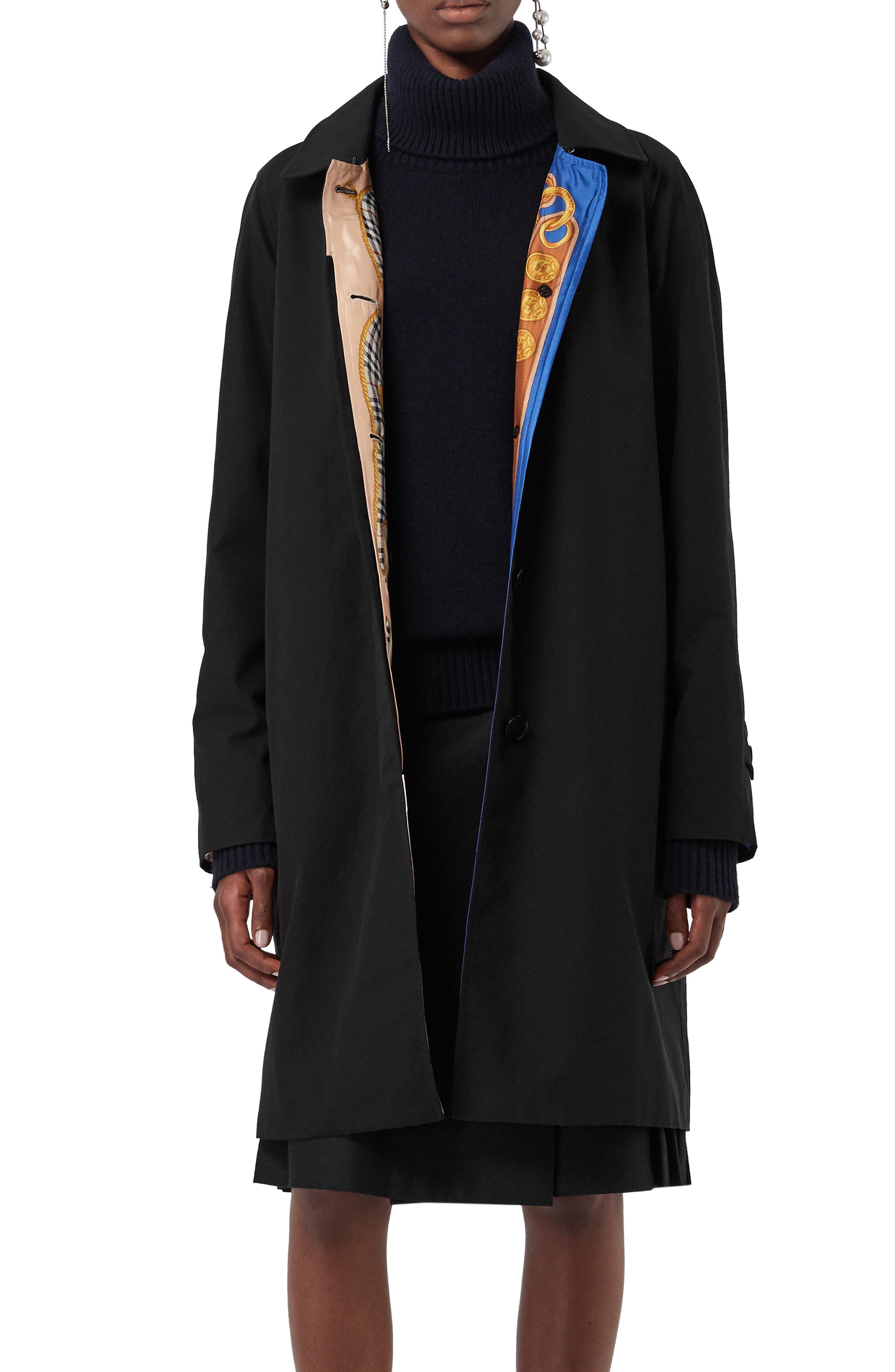Camden Cotton Car Coat,                             Alternate thumbnail 6, color,                             BLACK