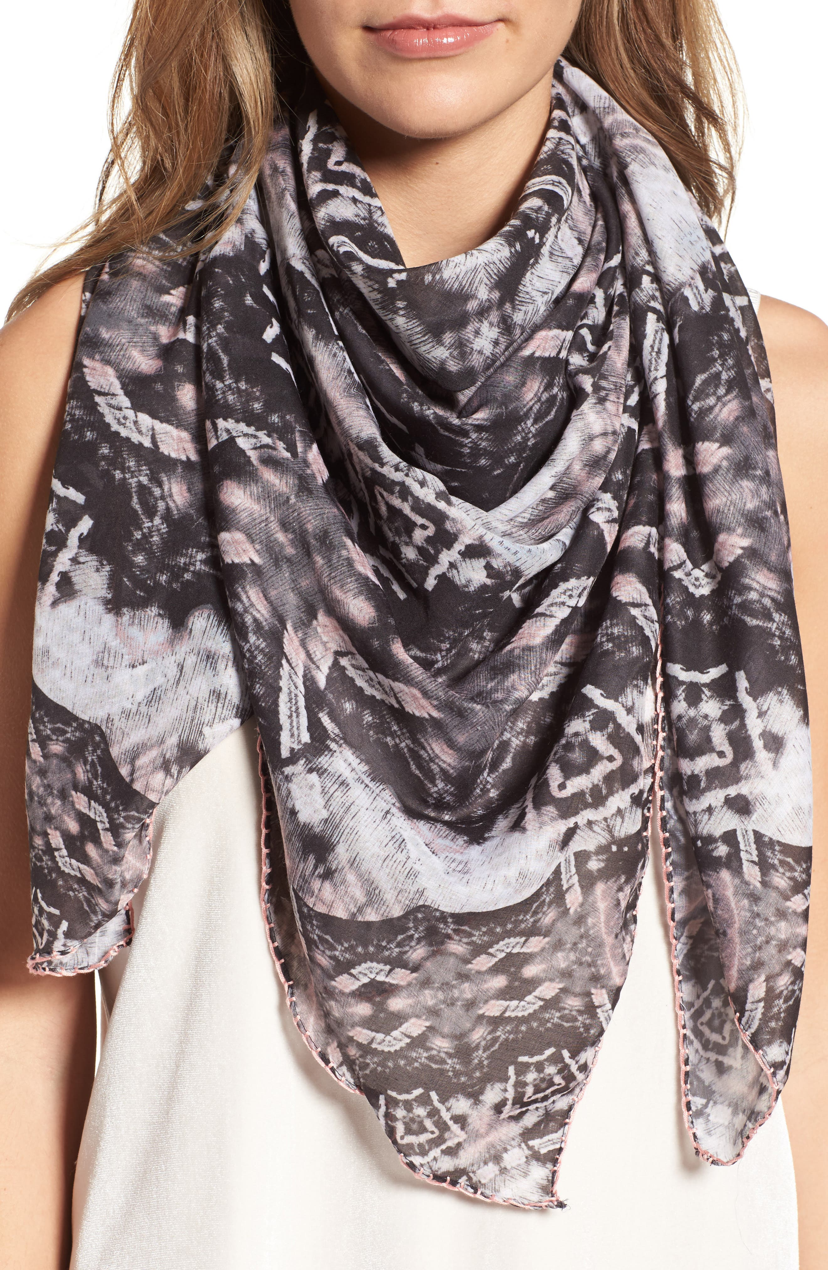 Prism Medallion Square Scarf,                         Main,                         color, 001