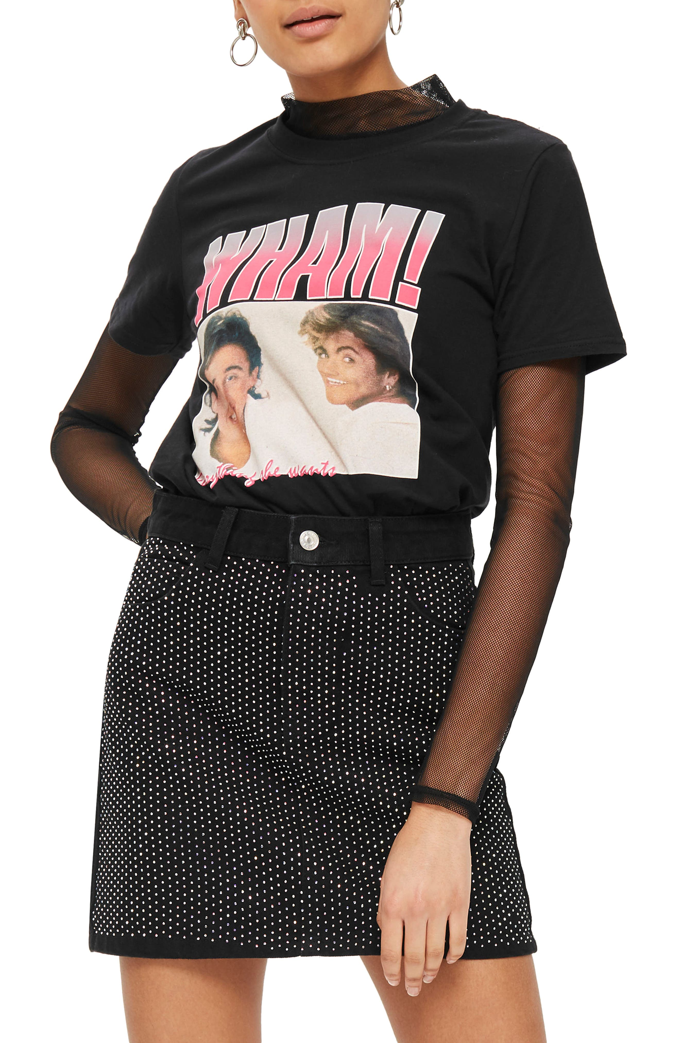 Wham! Graphic T-Shirt,                             Main thumbnail 1, color,                             001