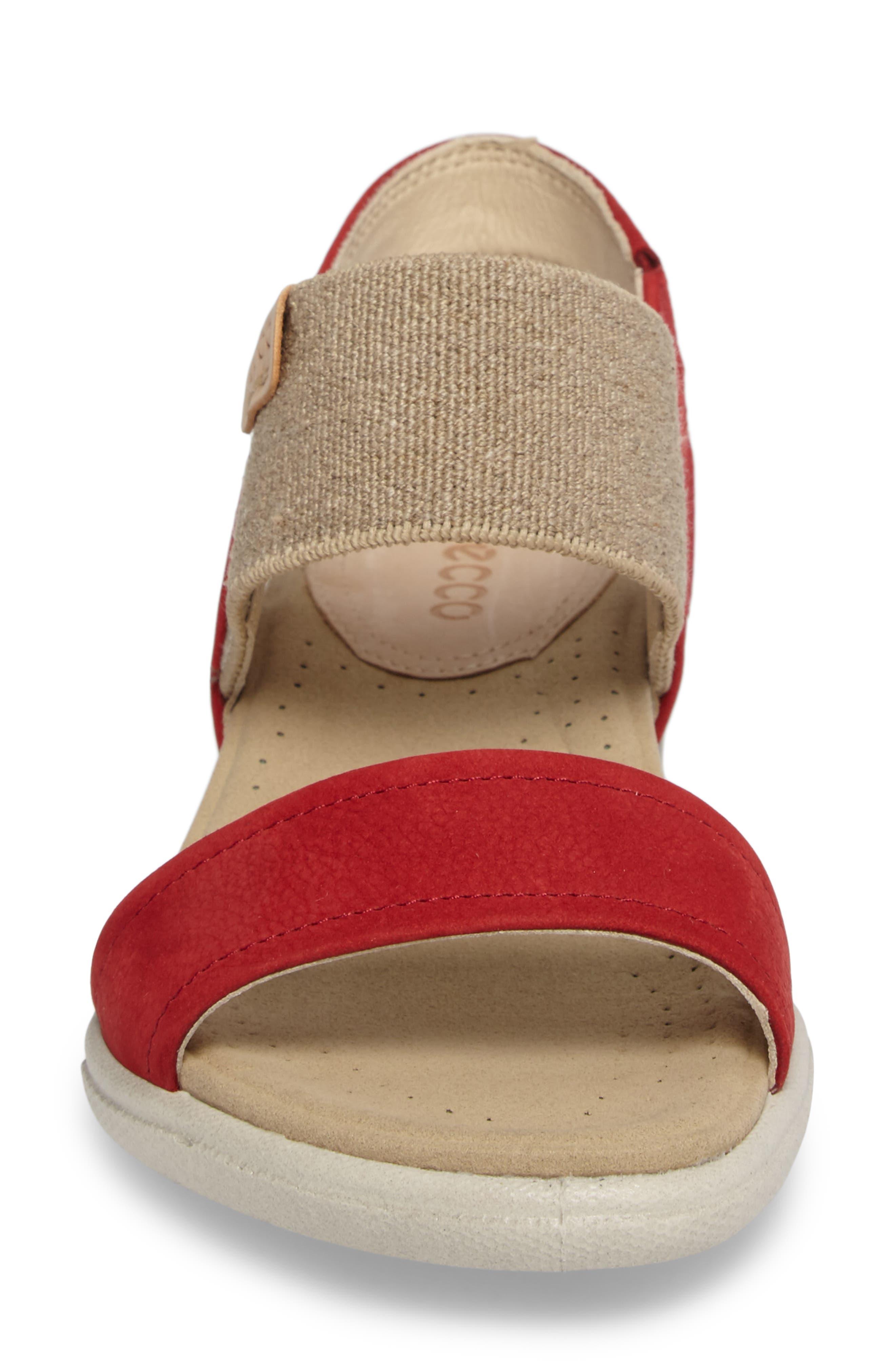 'Damara' Sandal,                             Alternate thumbnail 4, color,                             CHILI RED LEATHER