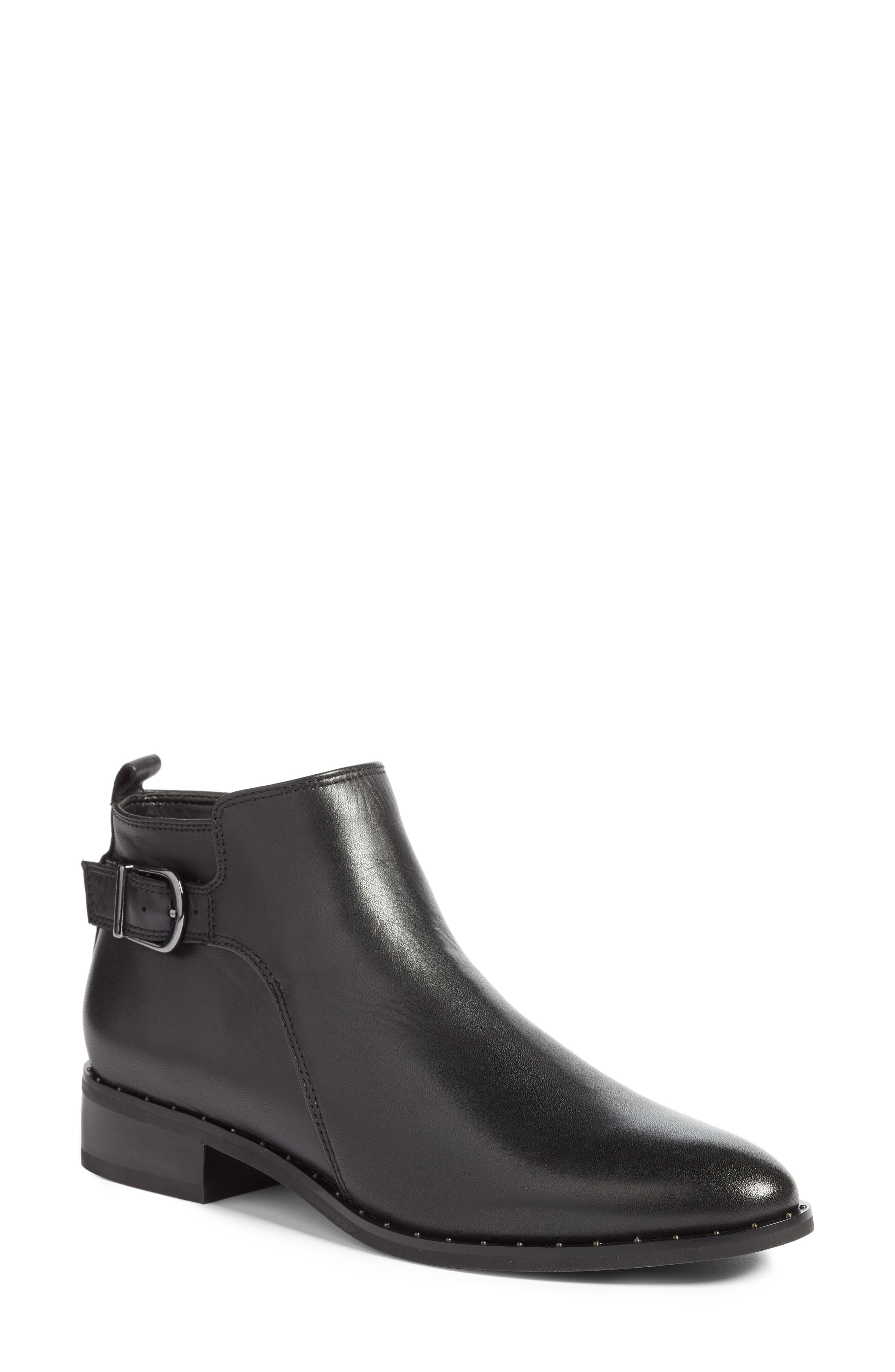 Tami Waterproof Moto Boot,                         Main,                         color, BLACK LEATHER