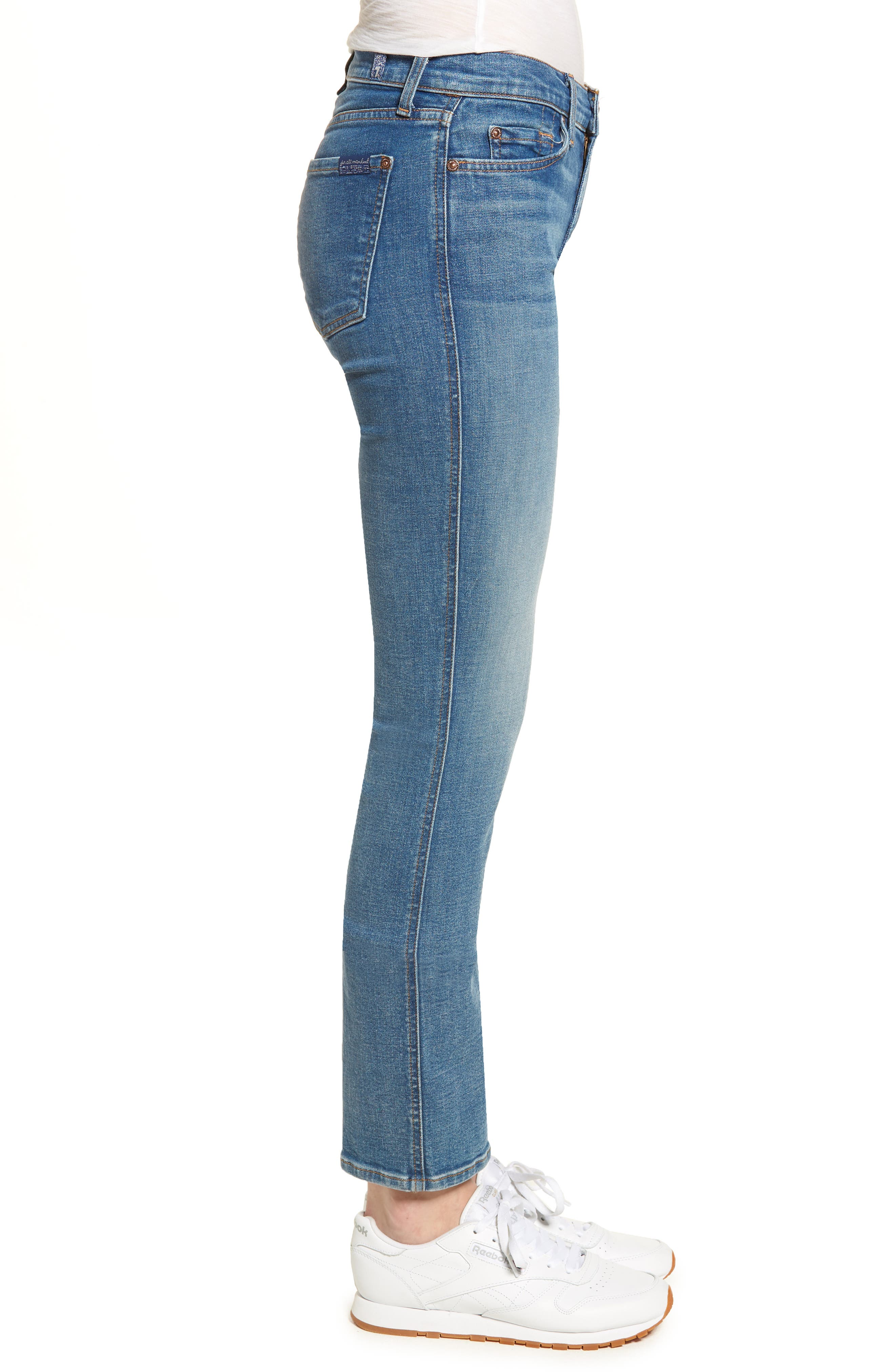 Dylan Straight Leg Jeans,                             Alternate thumbnail 3, color,                             400