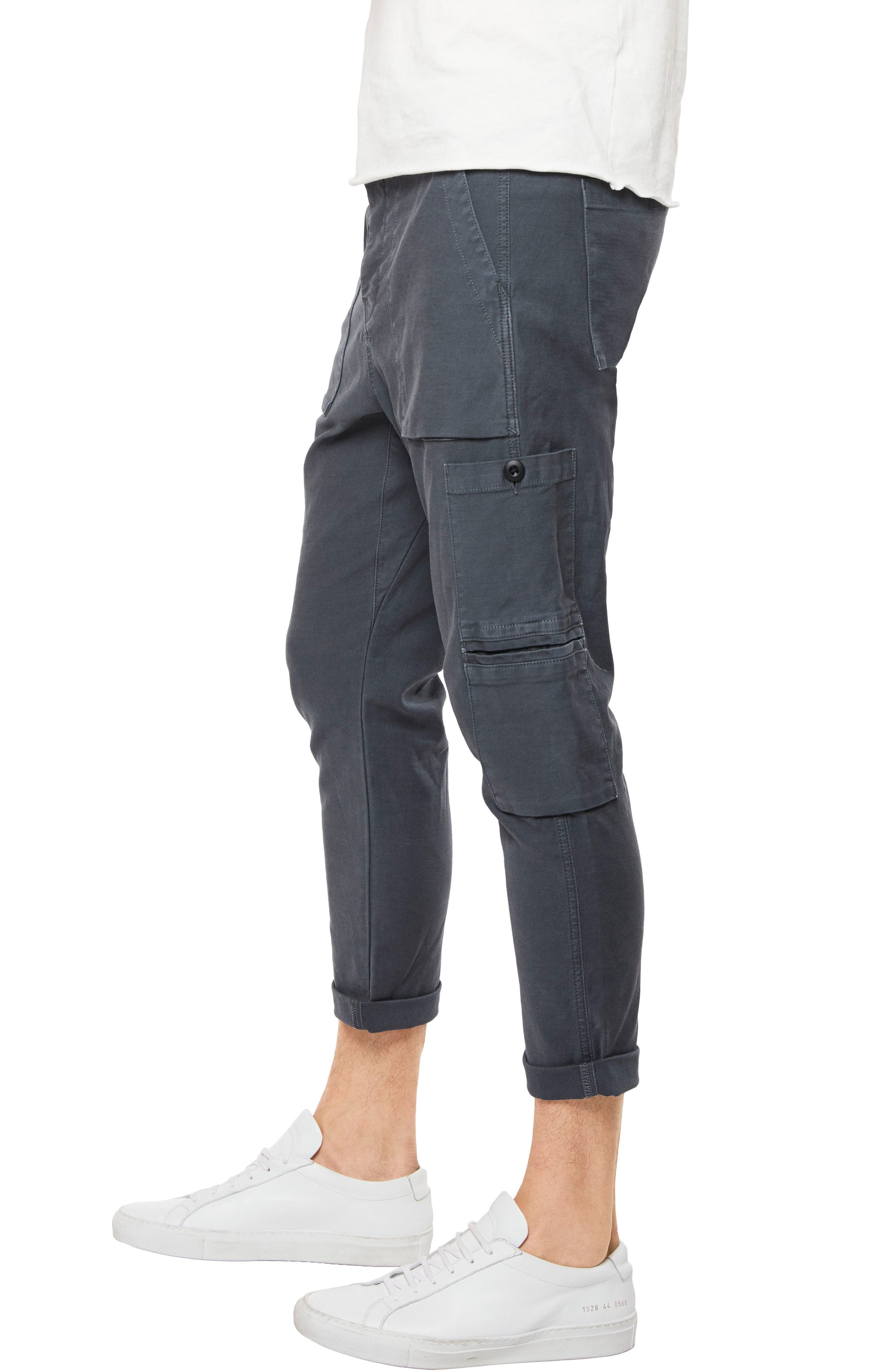 Koeficient Relaxed Fit Cargo Crop Pants,                             Alternate thumbnail 3, color,                             400