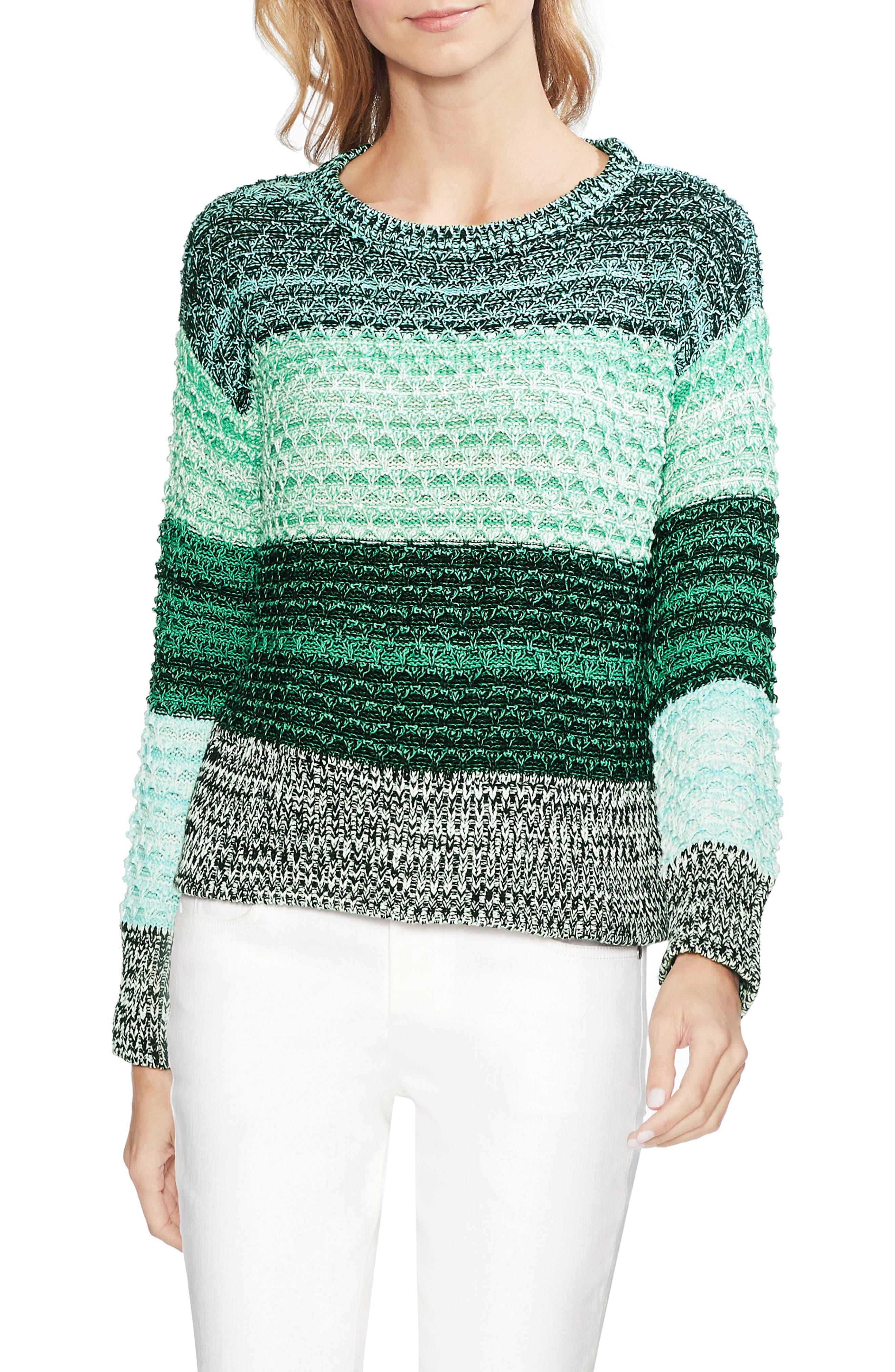 Vince Camuto Sweaters COLORBLOCK CREWNECK SWEATER