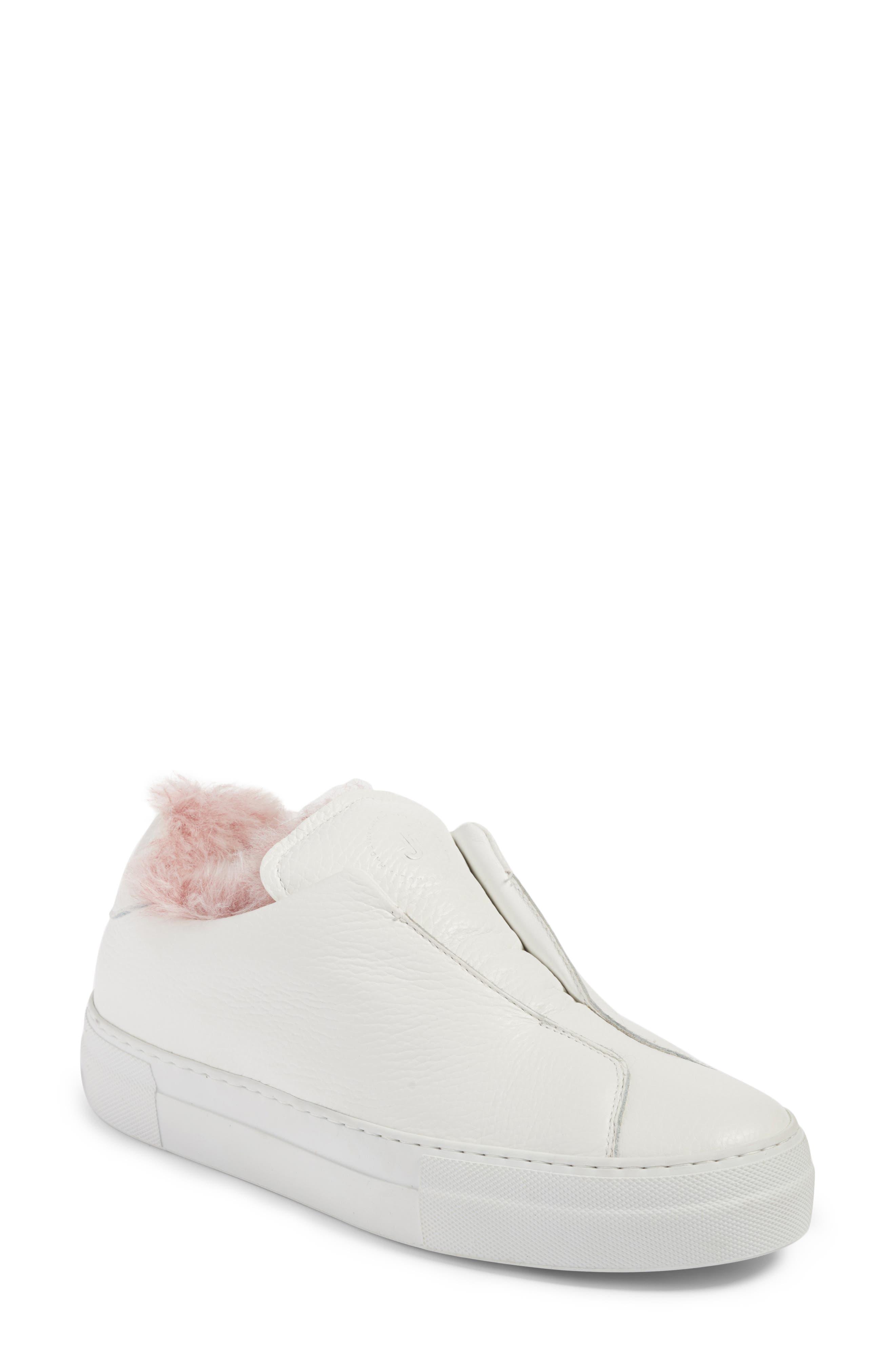 Faux Fur Slip-On Sneaker,                             Main thumbnail 2, color,