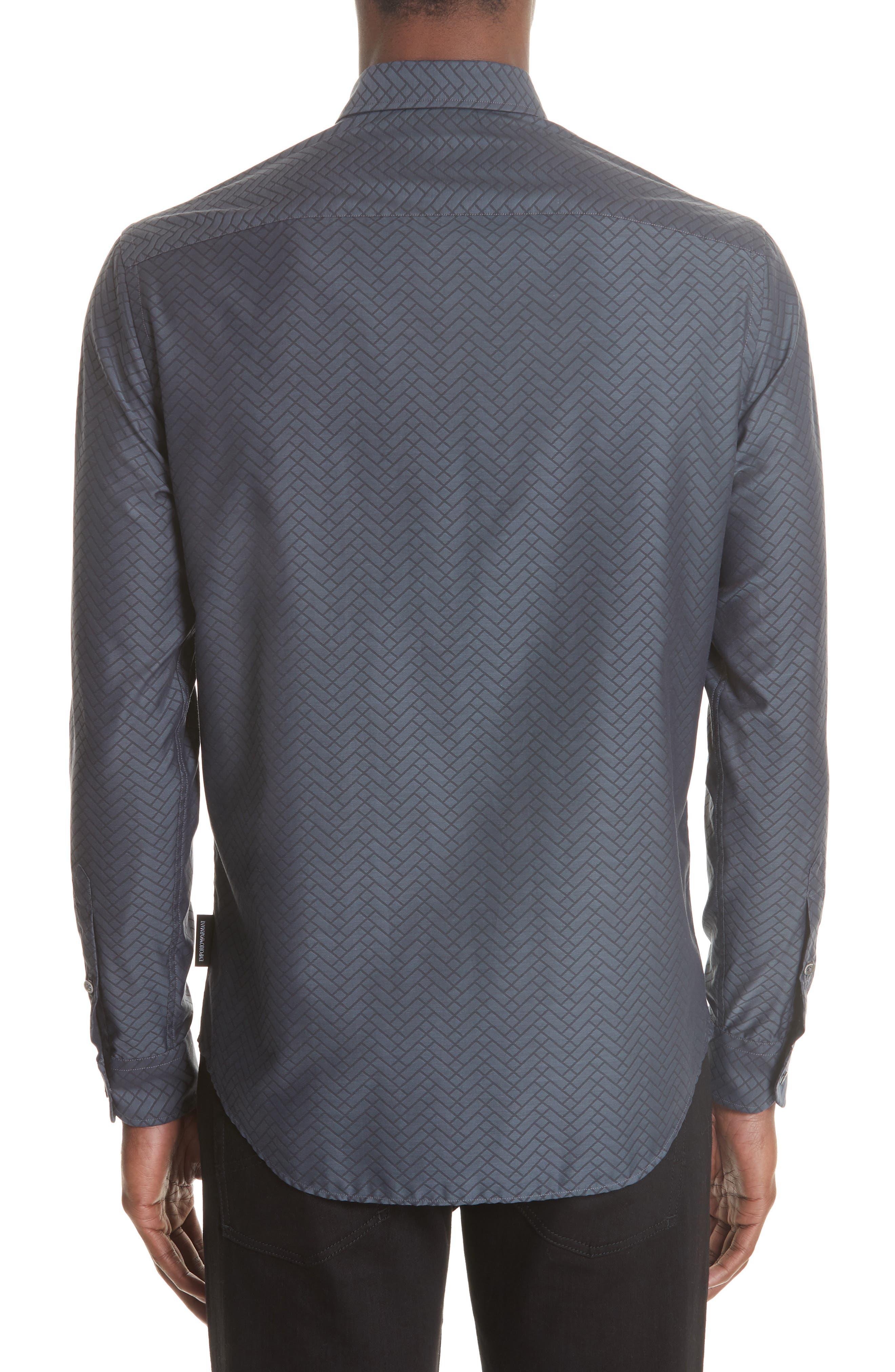 Regular Fit Geometric Sport Shirt,                             Alternate thumbnail 2, color,                             GREY
