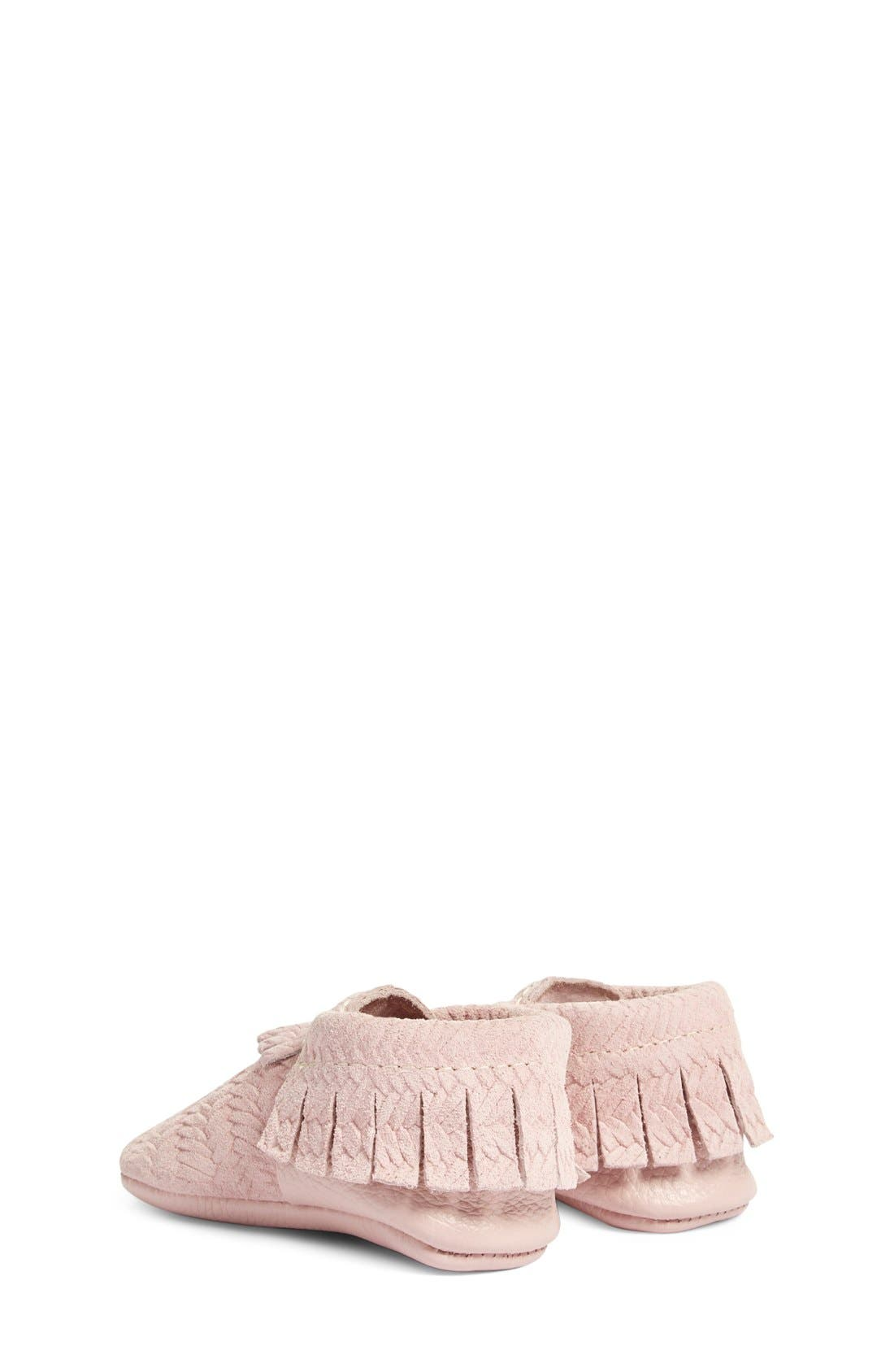 'Cardigan' Woven Leather Moccasin,                             Alternate thumbnail 6, color,                             680
