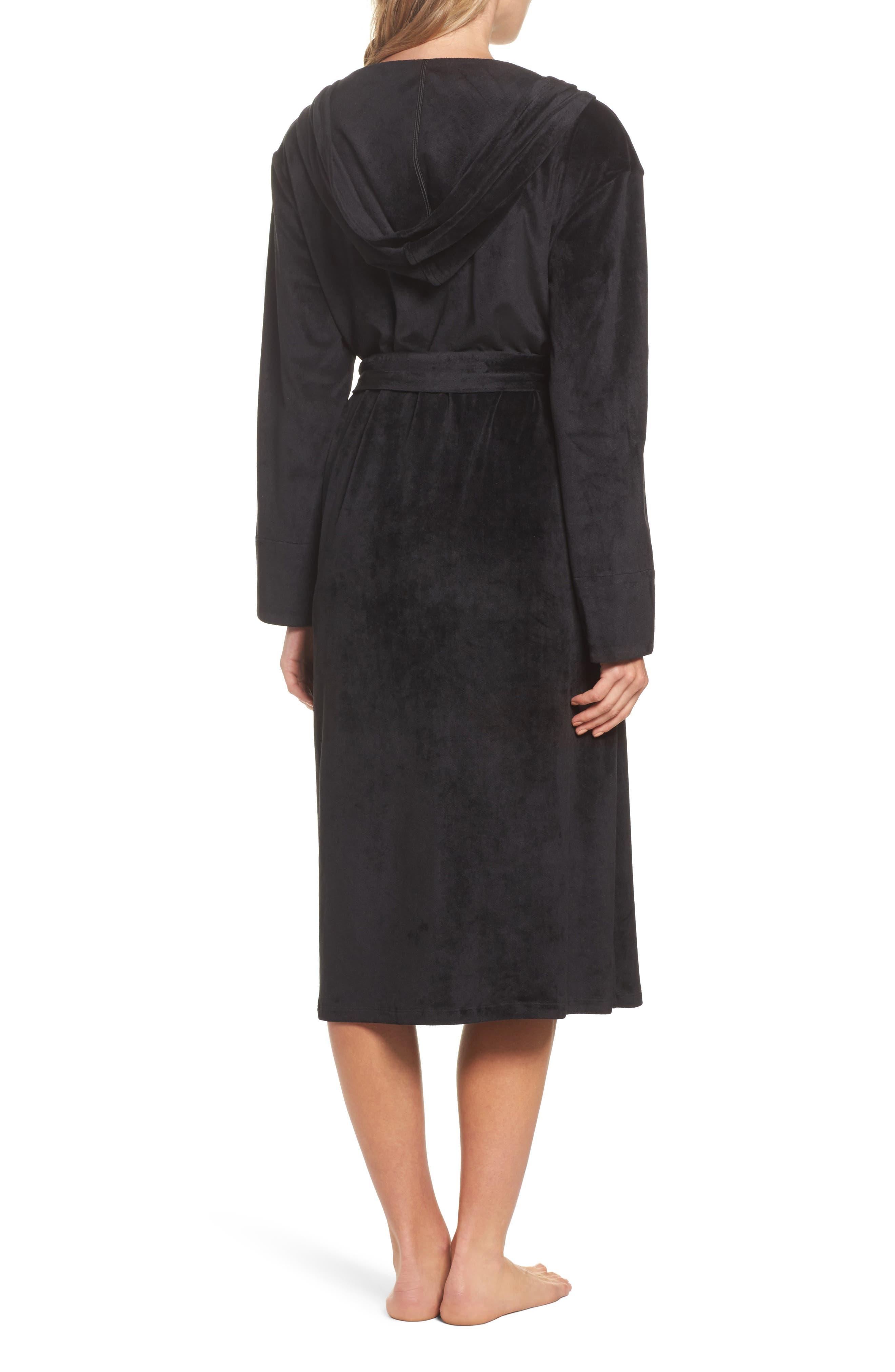Luxury Plush Hooded Robe,                             Alternate thumbnail 2, color,                             001