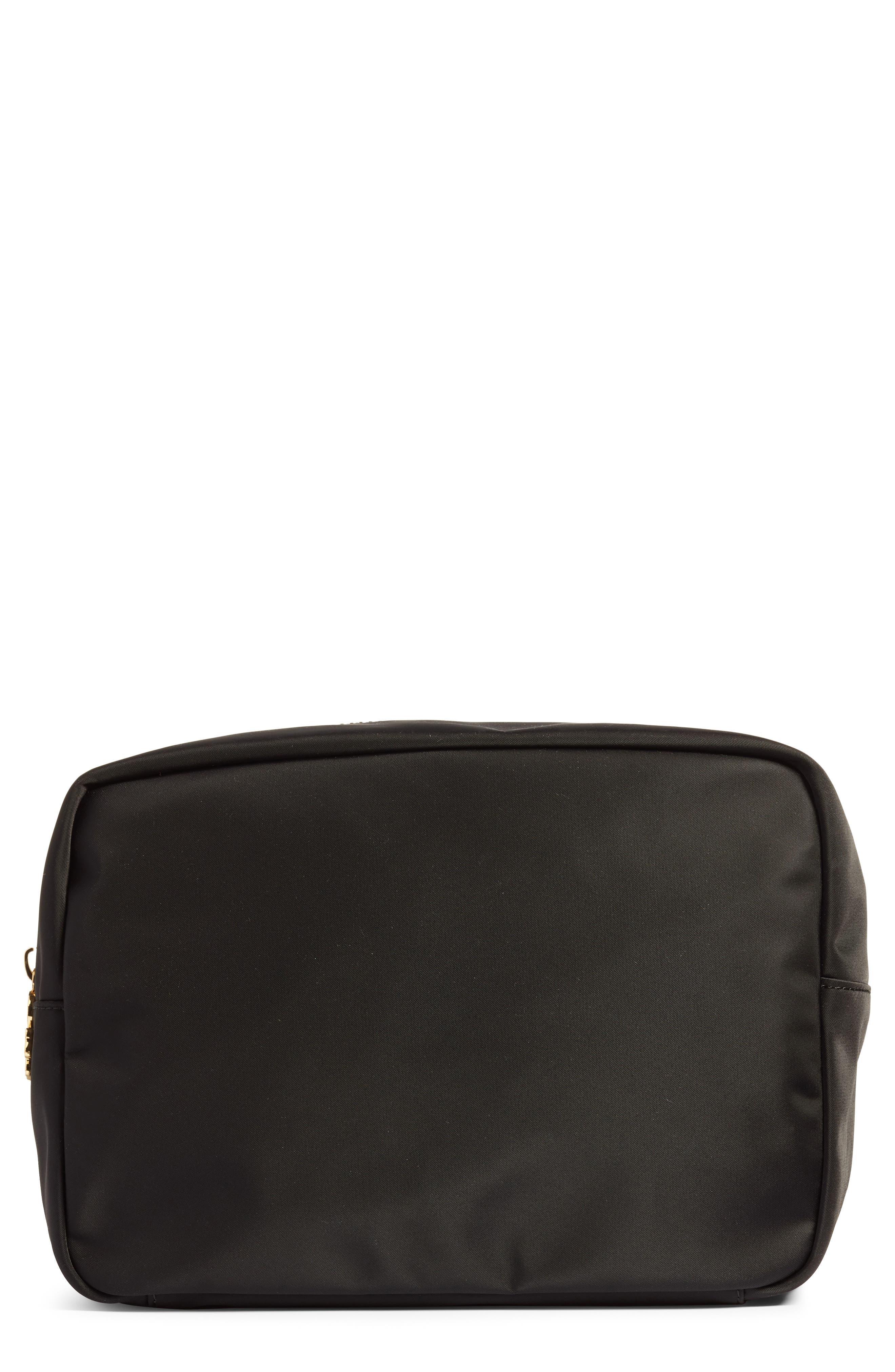 STONEY CLOVER LANE Nylon Large Cosmetics Pouch in Black