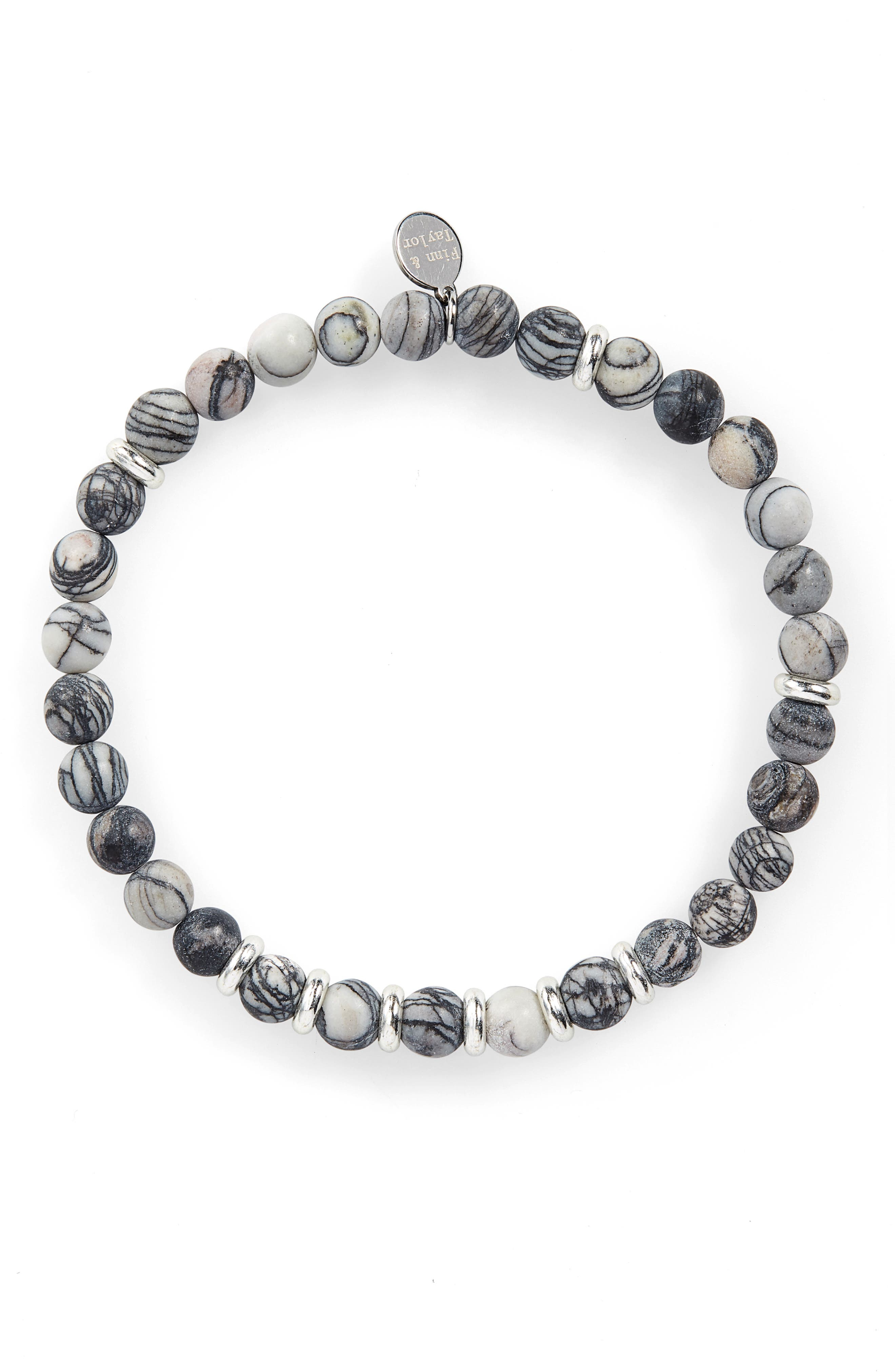 Zebra Agate Bead Bracelet,                         Main,                         color, 050