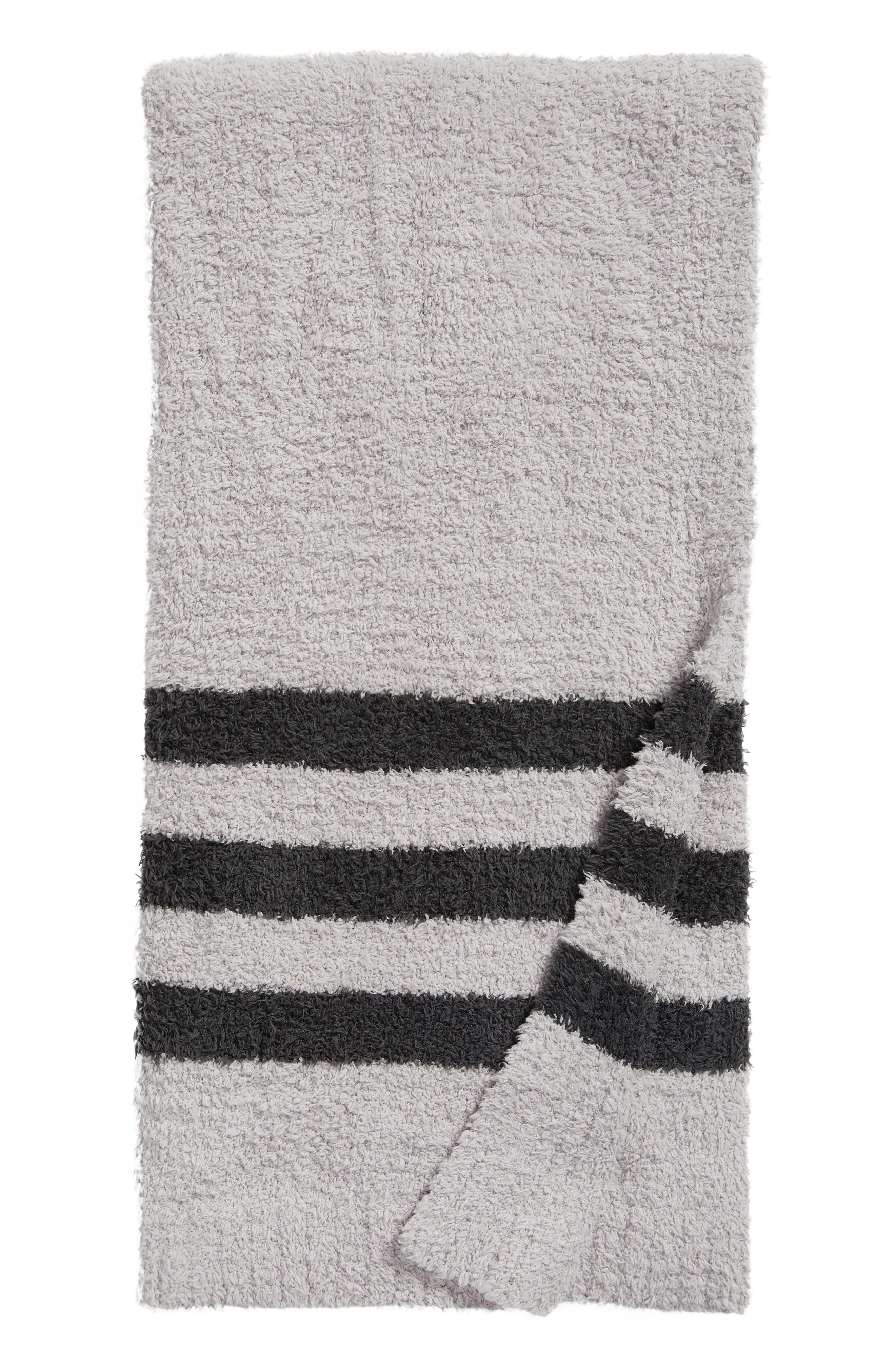 Barefoot Dreams Cozychic<sup>®</sup> Tri Stripe Throw Blanket,                             Main thumbnail 3, color,