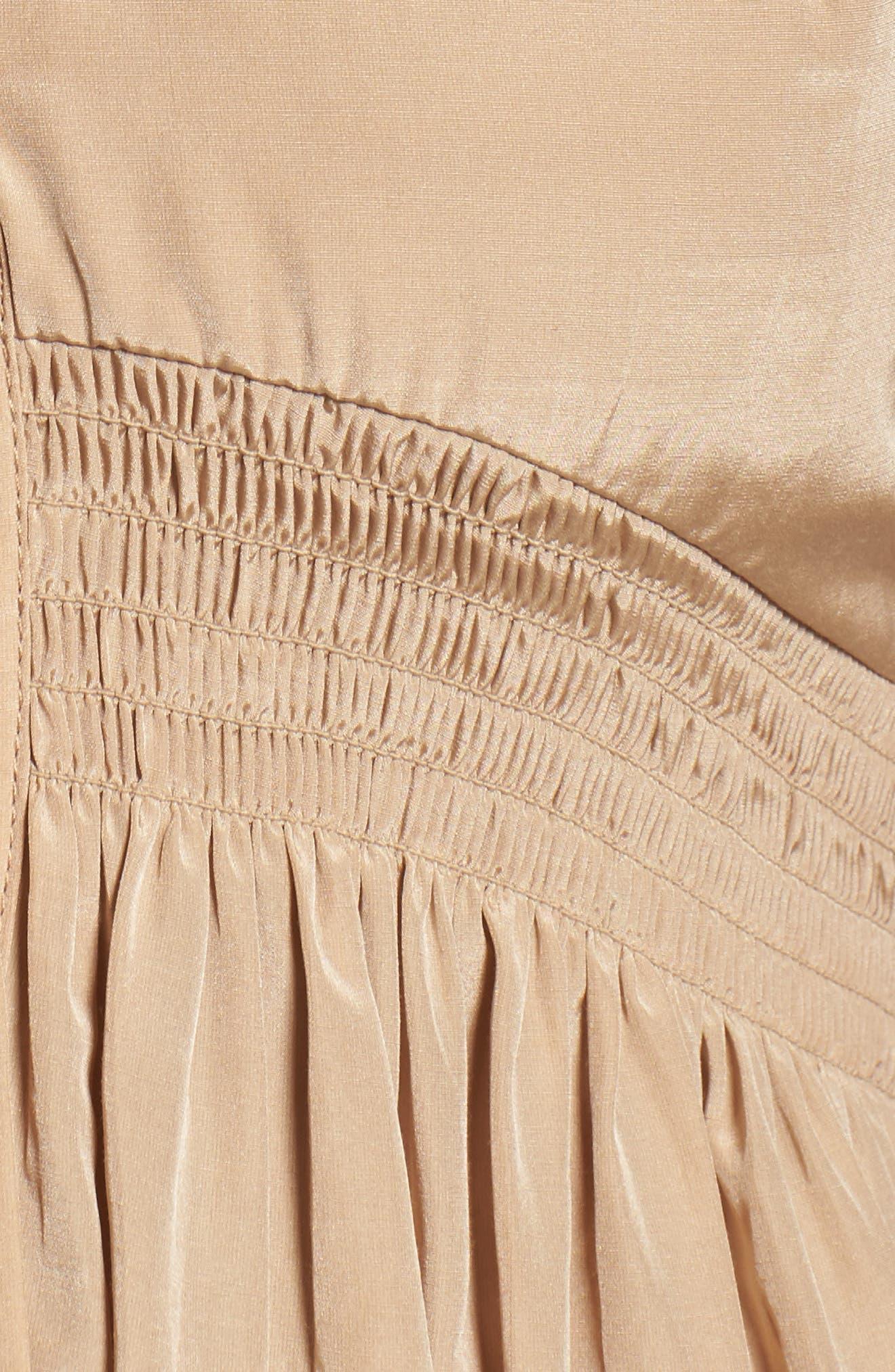 Aria Cotton & Silk Midi Dress,                             Alternate thumbnail 5, color,                             250
