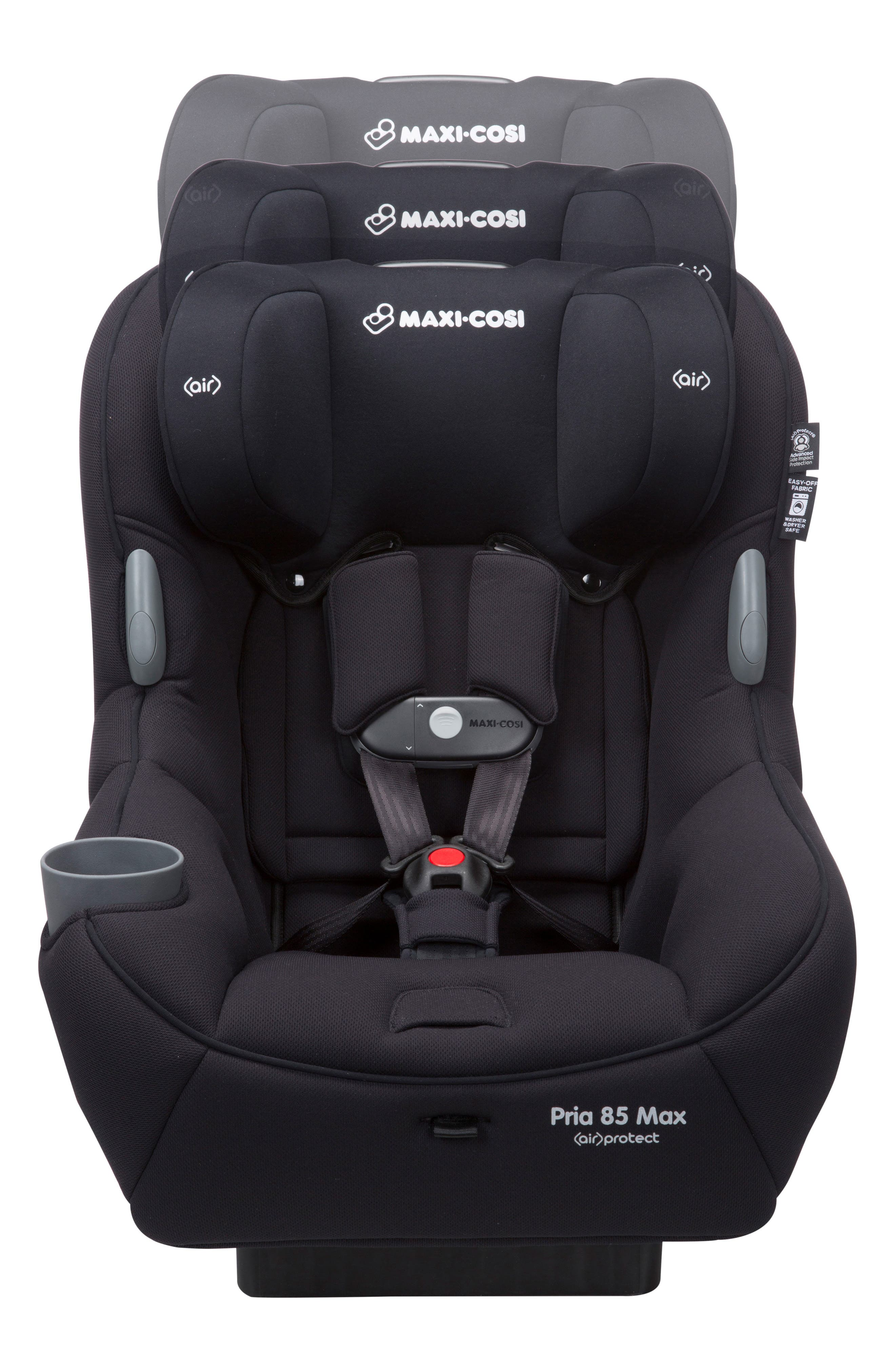 Pria<sup>™</sup> 85 Max Convertible Car Seat,                             Alternate thumbnail 3, color,                             NIGHT BLACK
