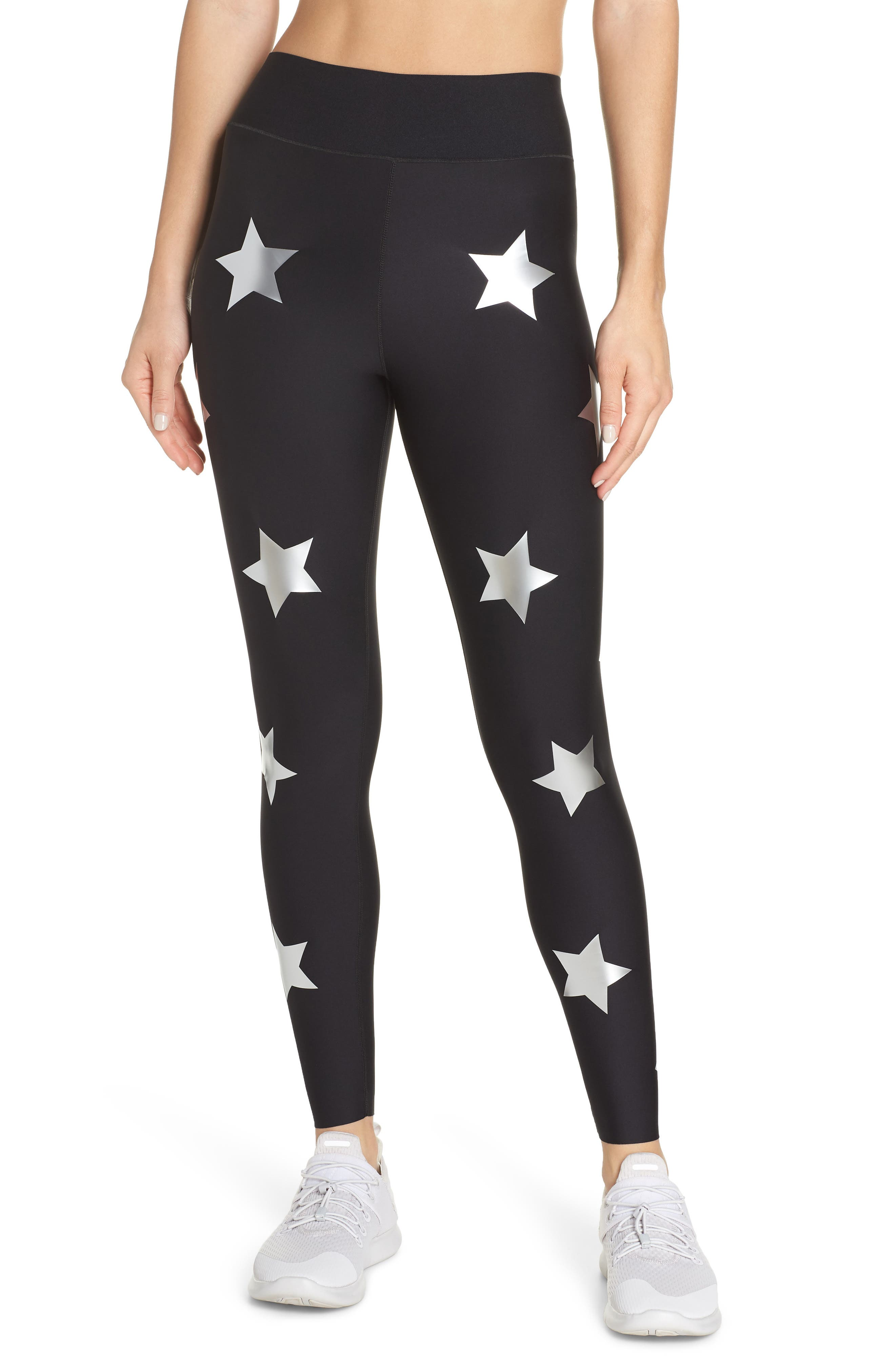 Lux Knockout Leggings,                         Main,                         color, NERO SILVER