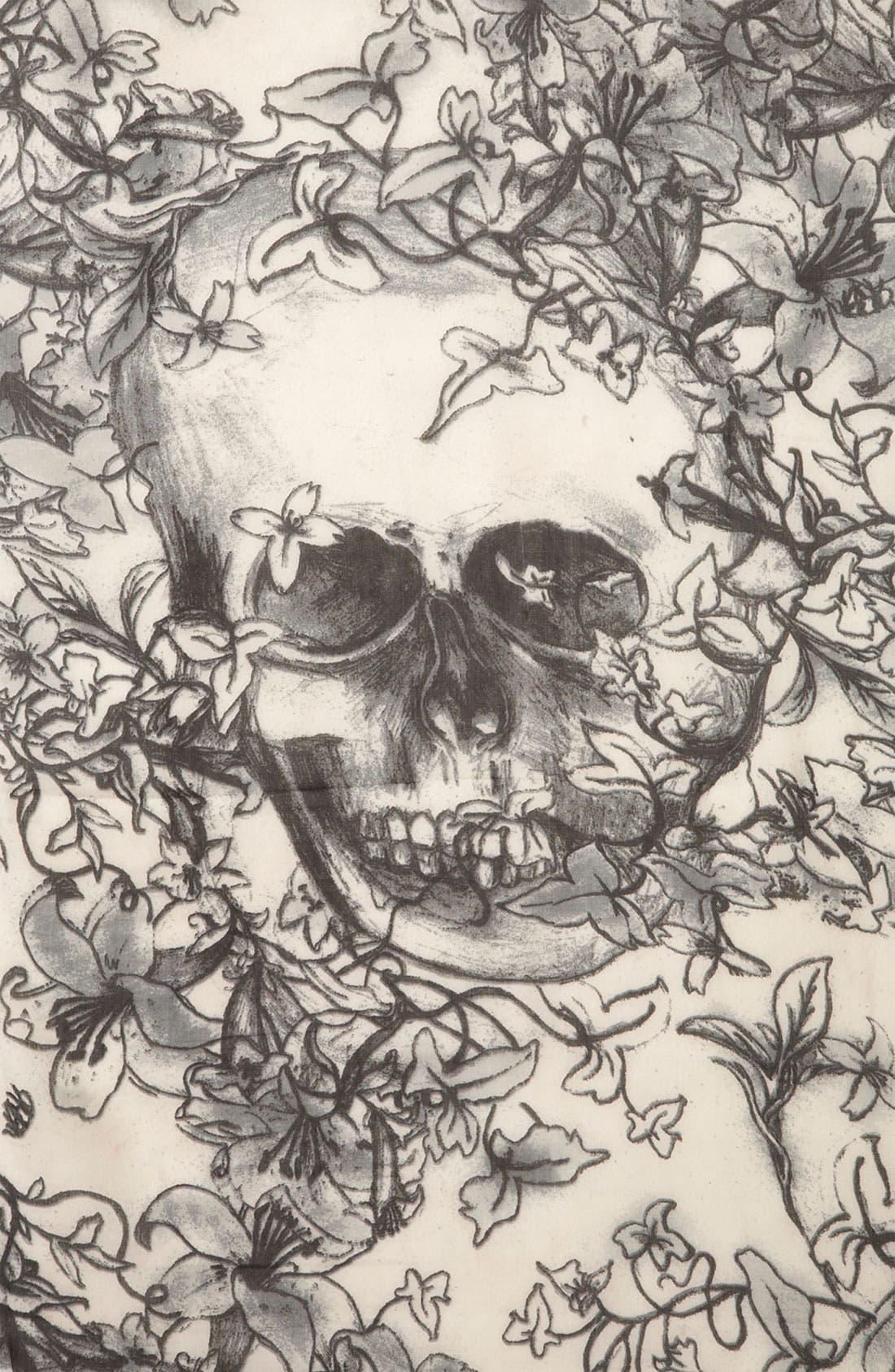 'Skull' Scarf,                             Alternate thumbnail 2, color,                             100