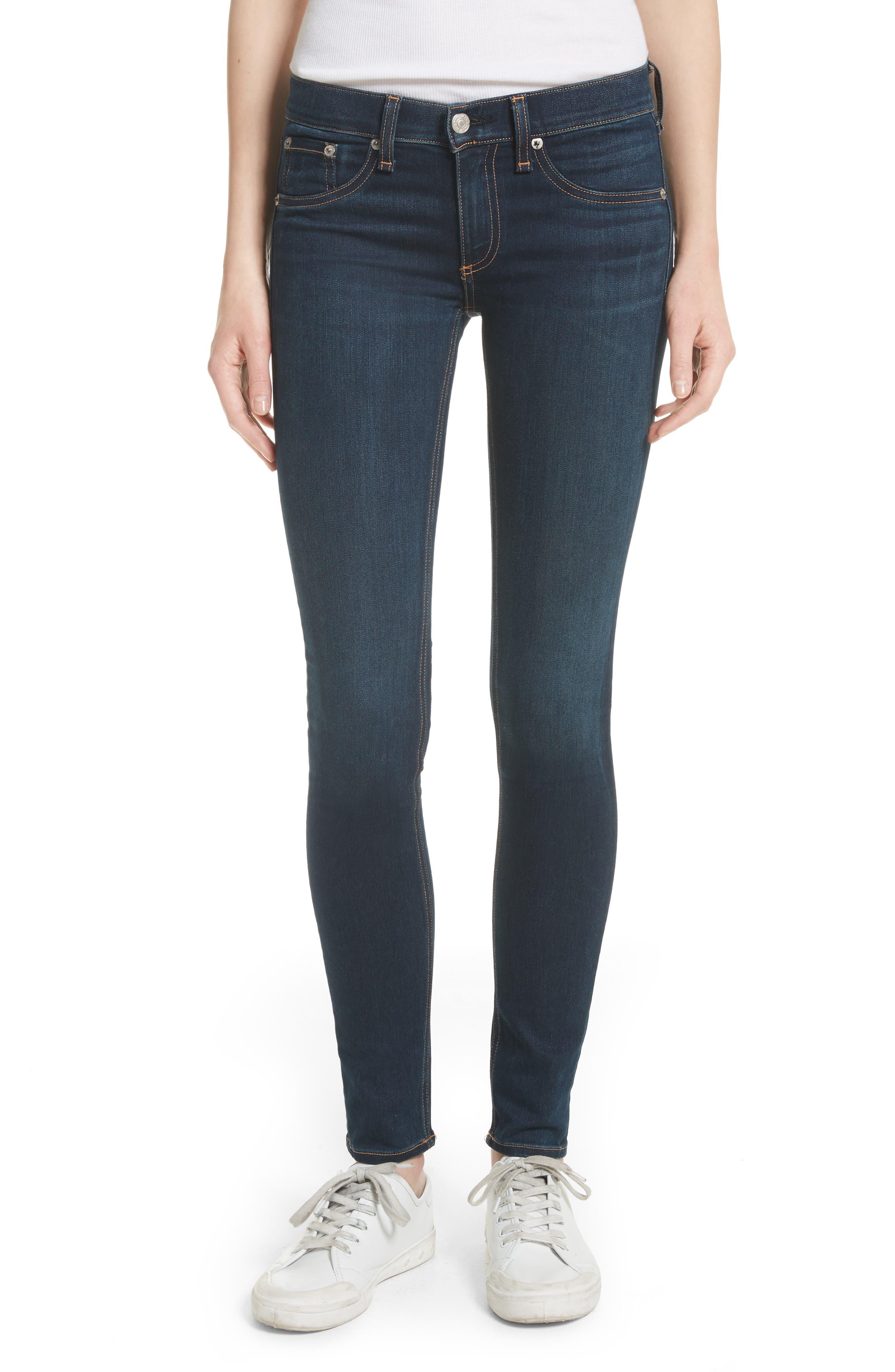 RAG & BONE Skinny Stretch Jeans, Main, color, BEDFORD