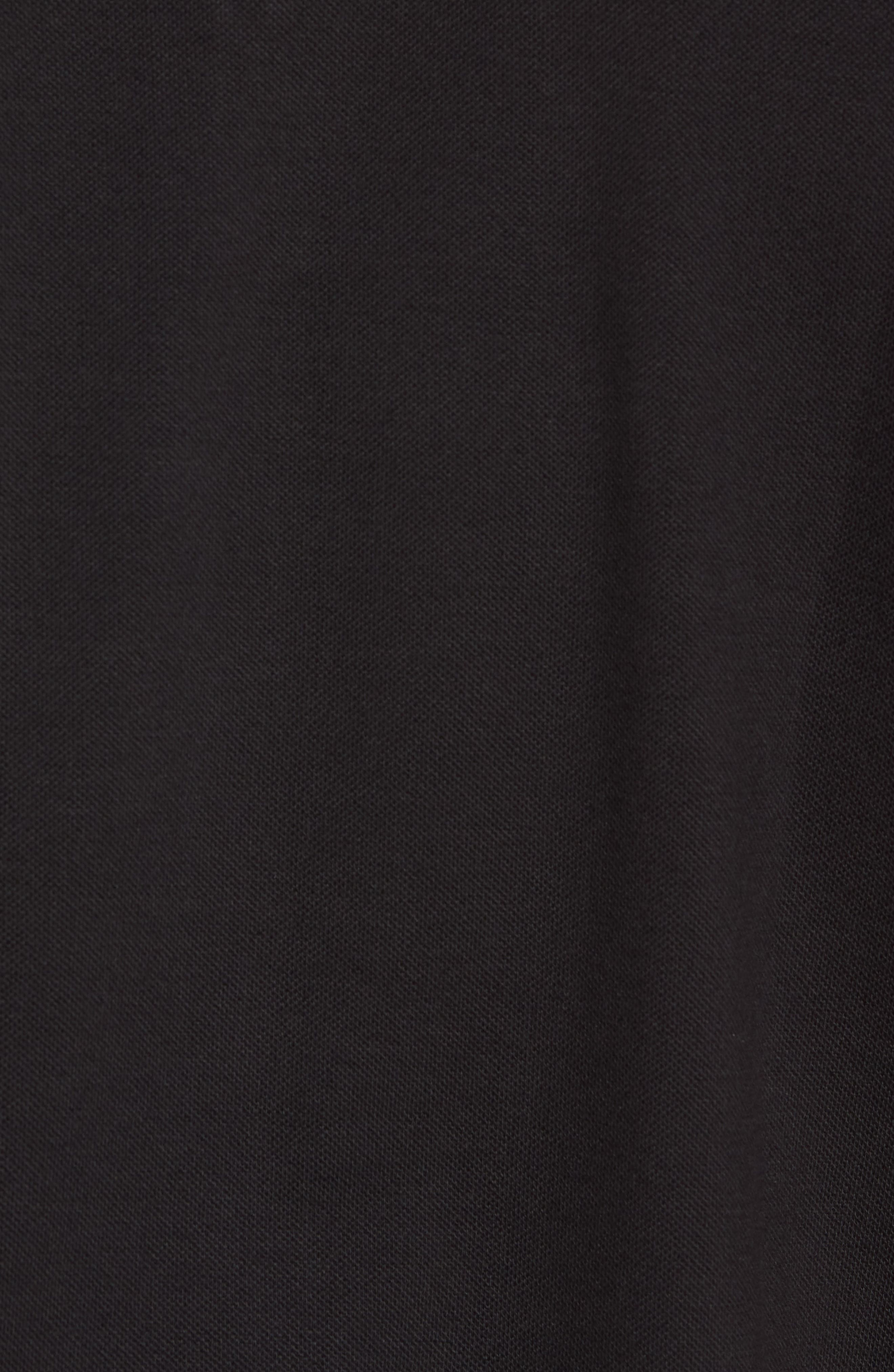 Cotton Polo Shirt,                             Alternate thumbnail 5, color,                             BLACK
