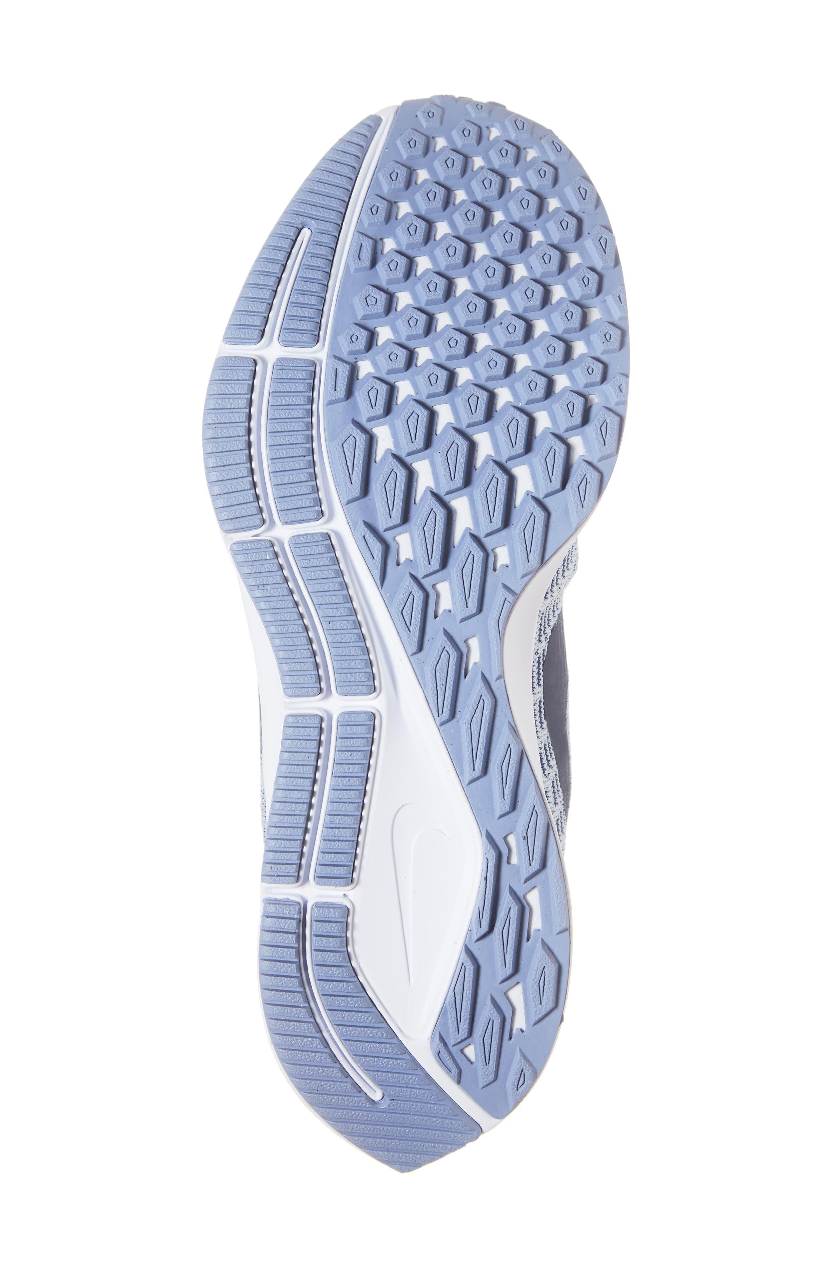 Air Zoom Pegasus 35 Running Shoe,                             Alternate thumbnail 6, color,                             GREY/ BLUE/ WHITE/ ALUMINUM
